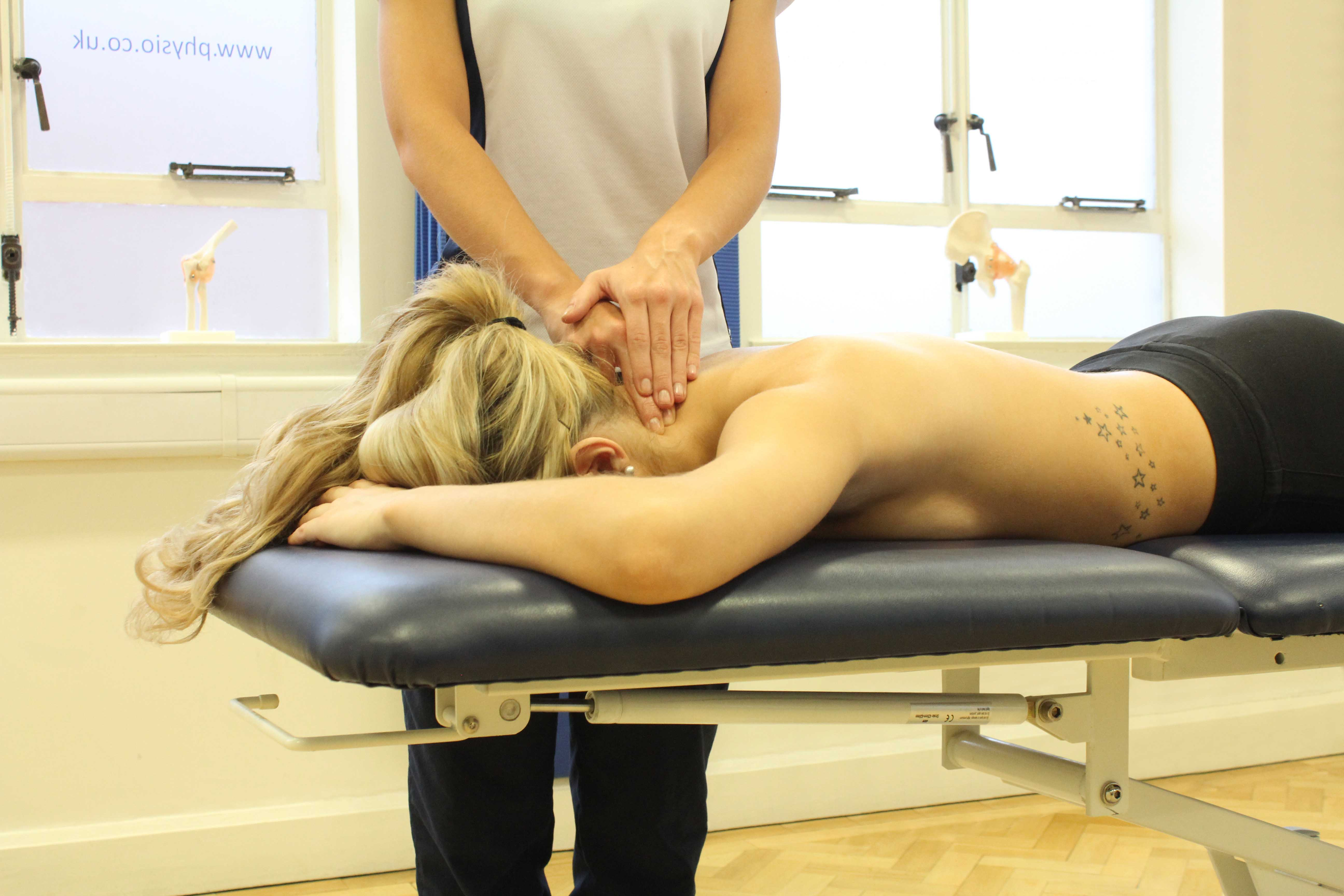 Mobilisations of the cervical vertebrea to relieve nerve impingement