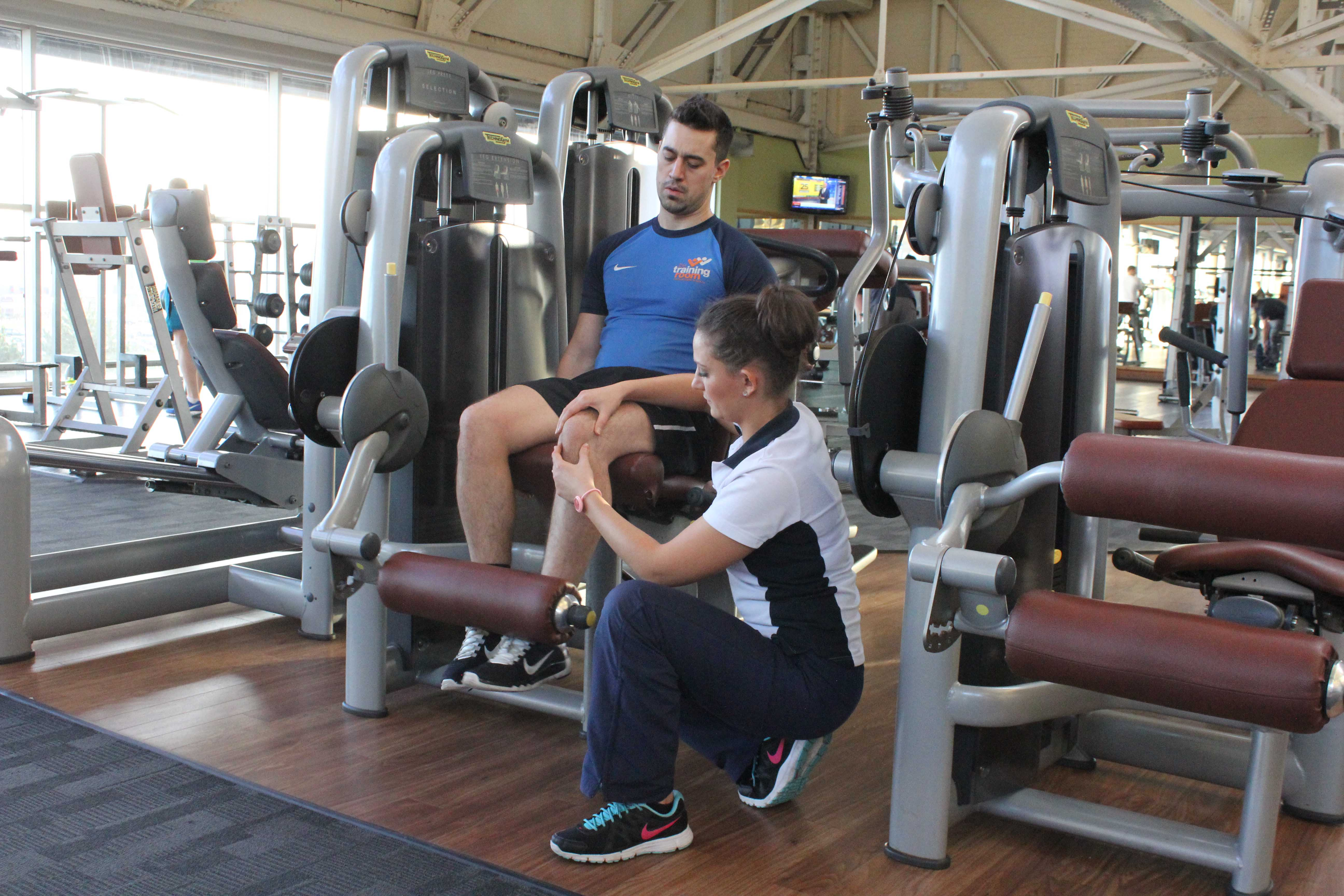 Progressive knee strengthening exercises performed under supervision of experienced MSK physiotherapist