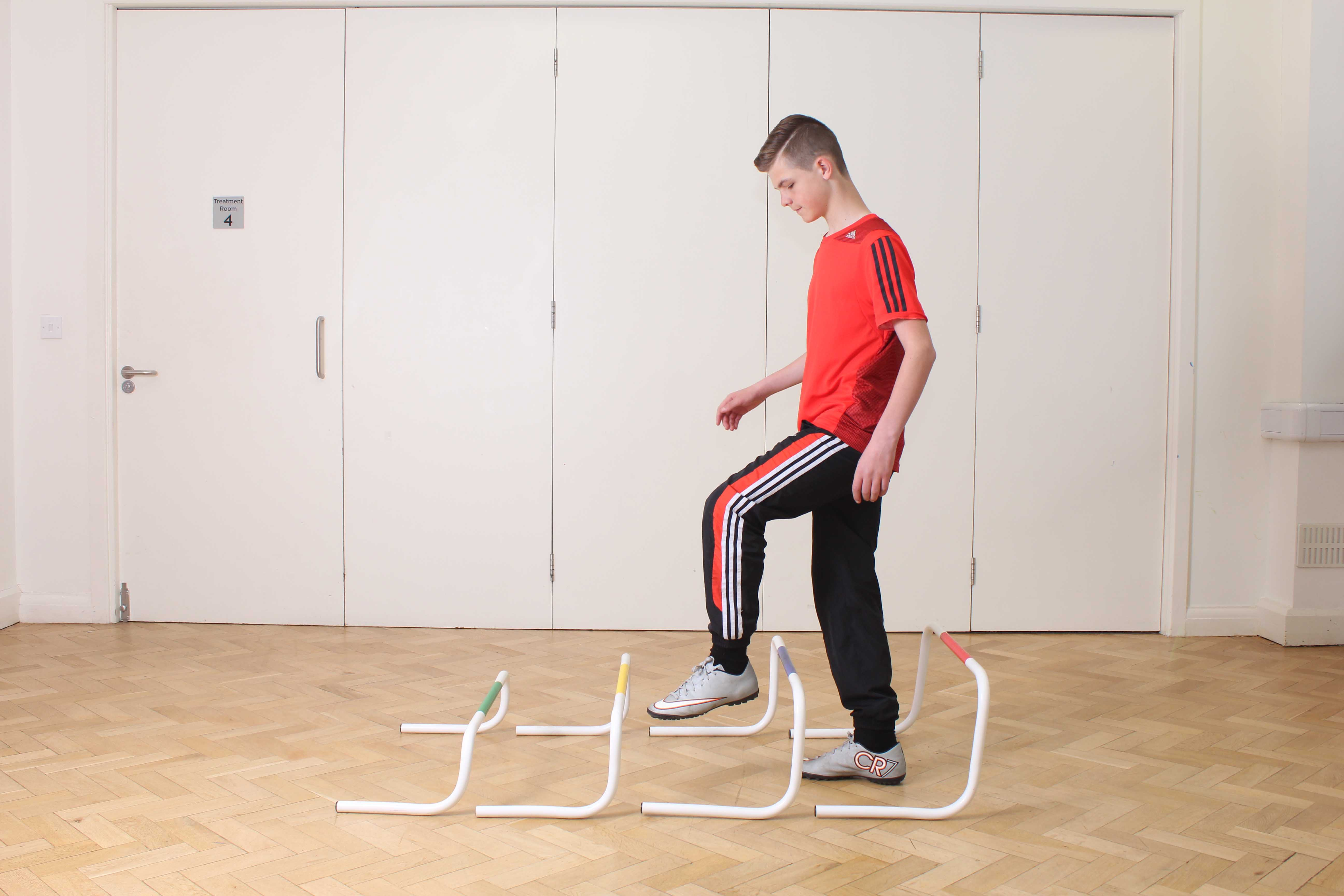 Balance and co-ordination  exercises supervised by a paediatric physiotherapist