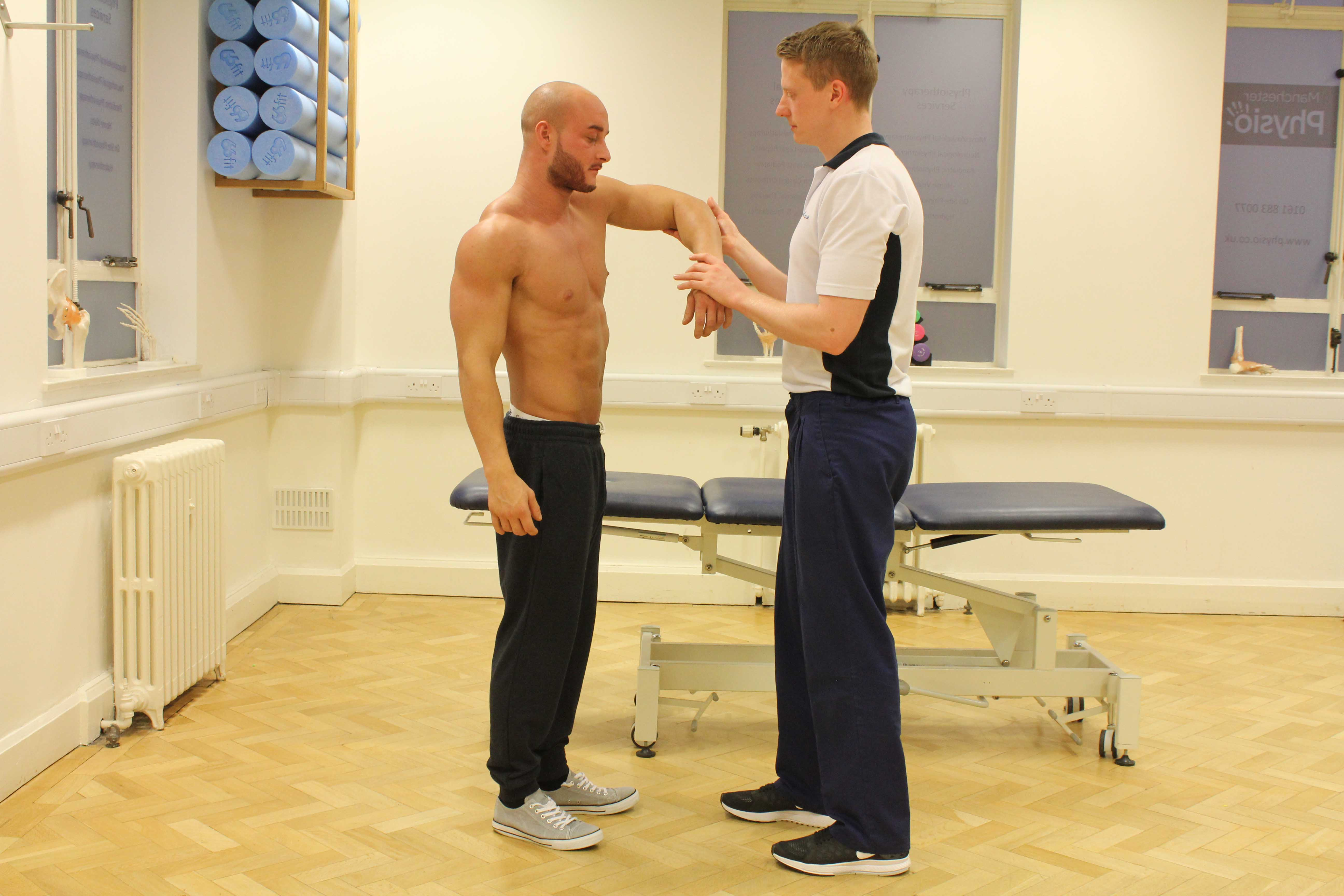 Strengthening exercises for the hip and pelvic muscles, supervised by MSK therapist