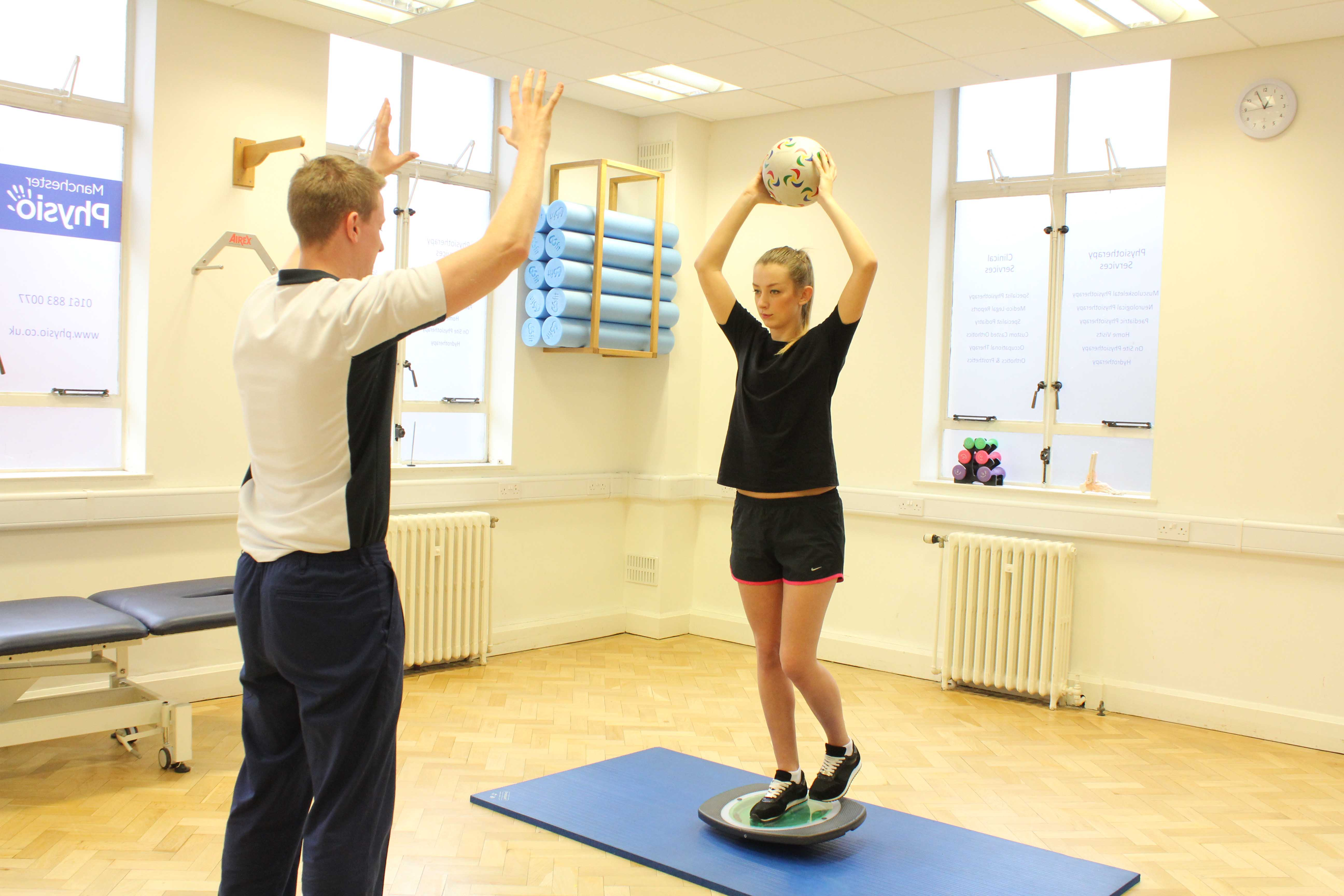 Balance exercises supervised by experienced musculoskeletal Physiotherapist