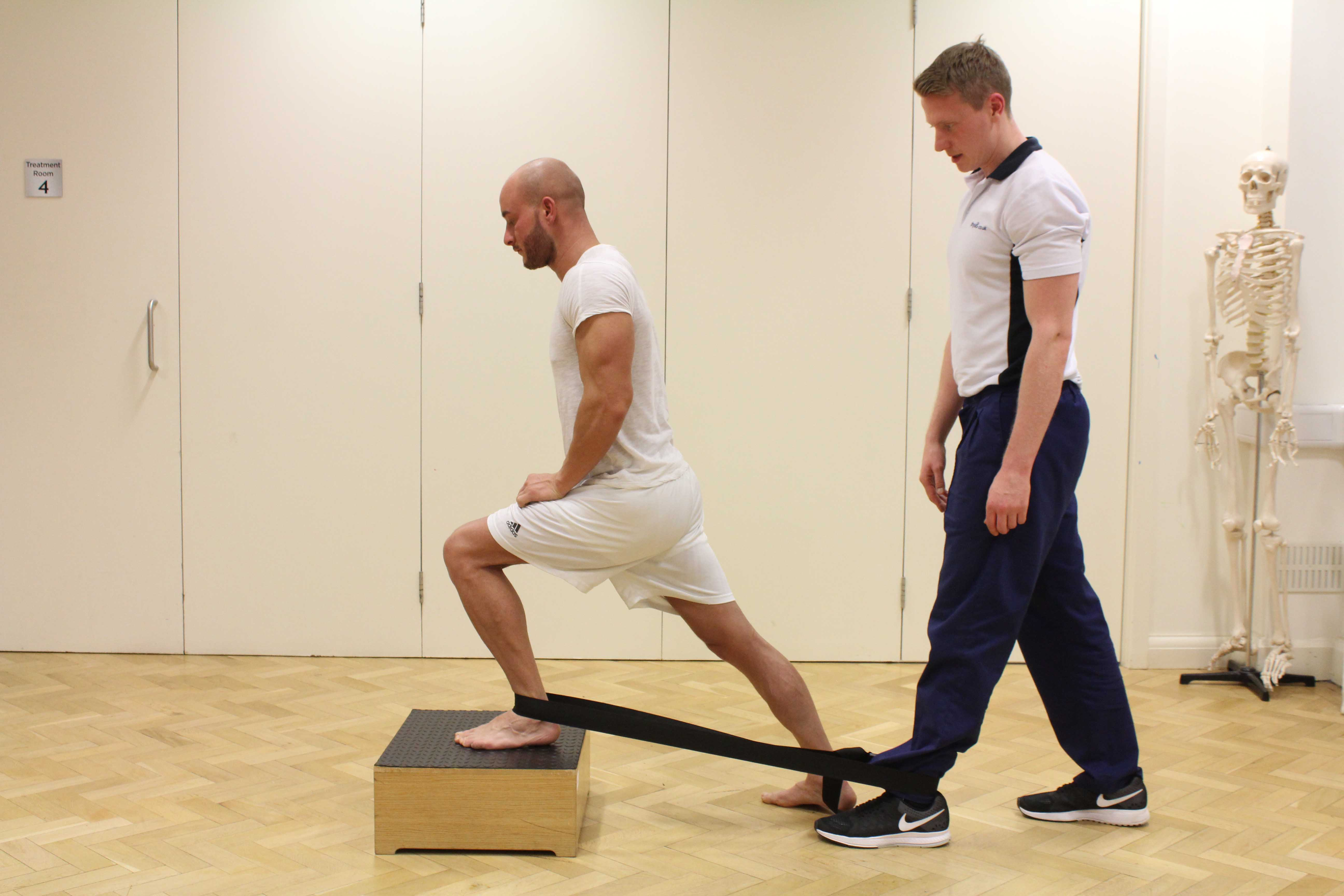 Mobilisation exercise for anterior impingement of the ankle