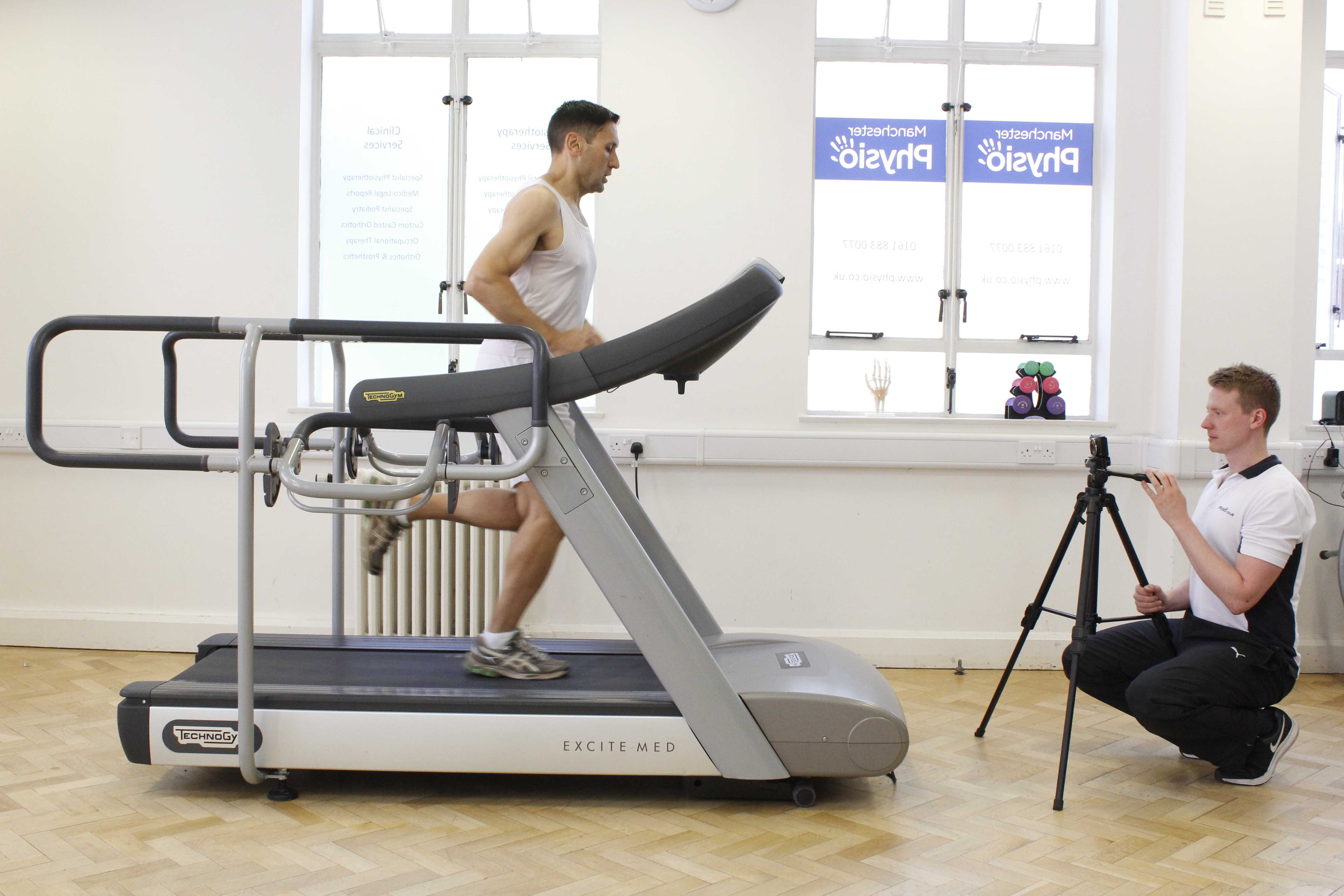 Biomechanical assessment of clients running gait by specialist Physiotherapist