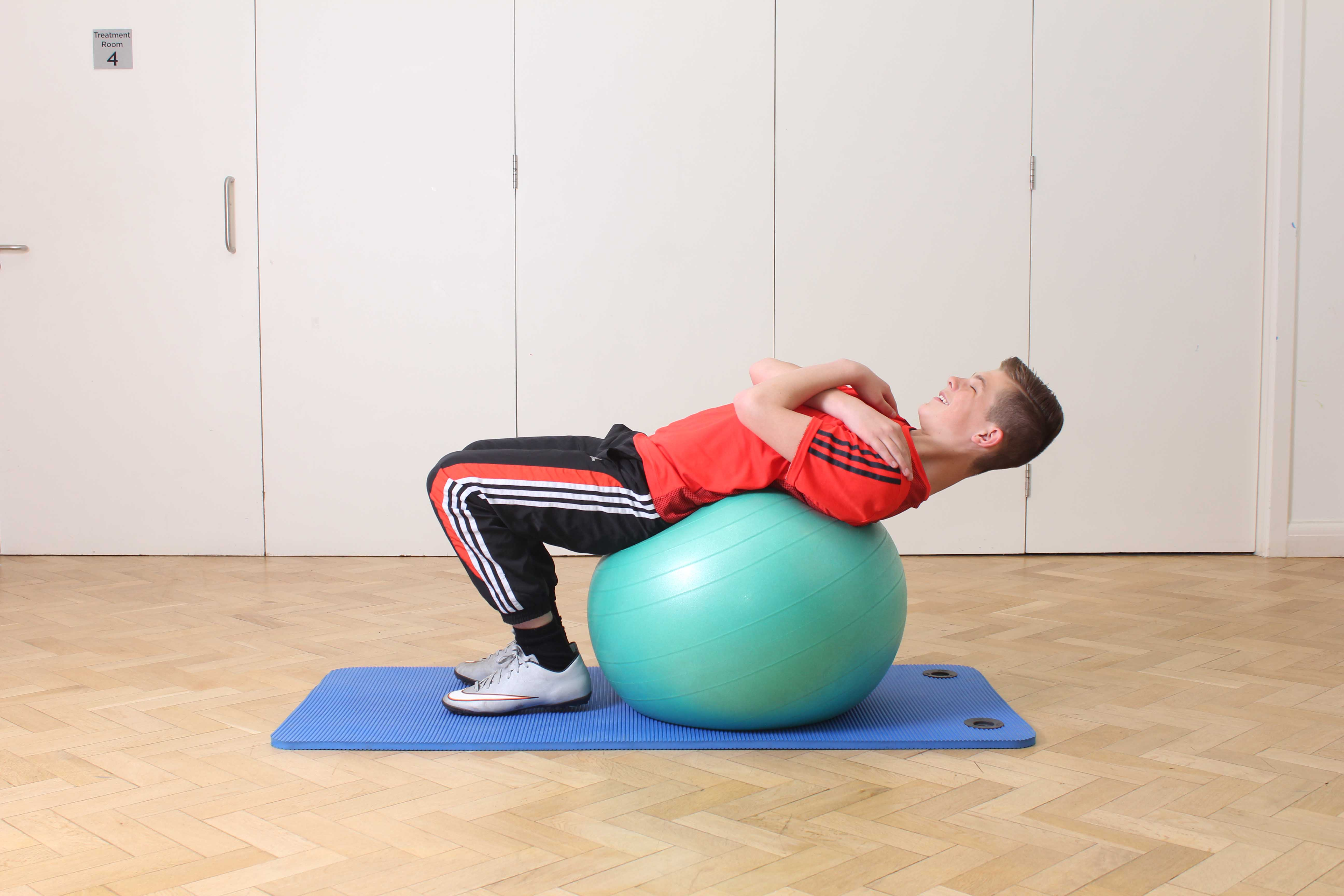 Toning and flexibility exercises performed under supervision of a paediatric physiotherapist