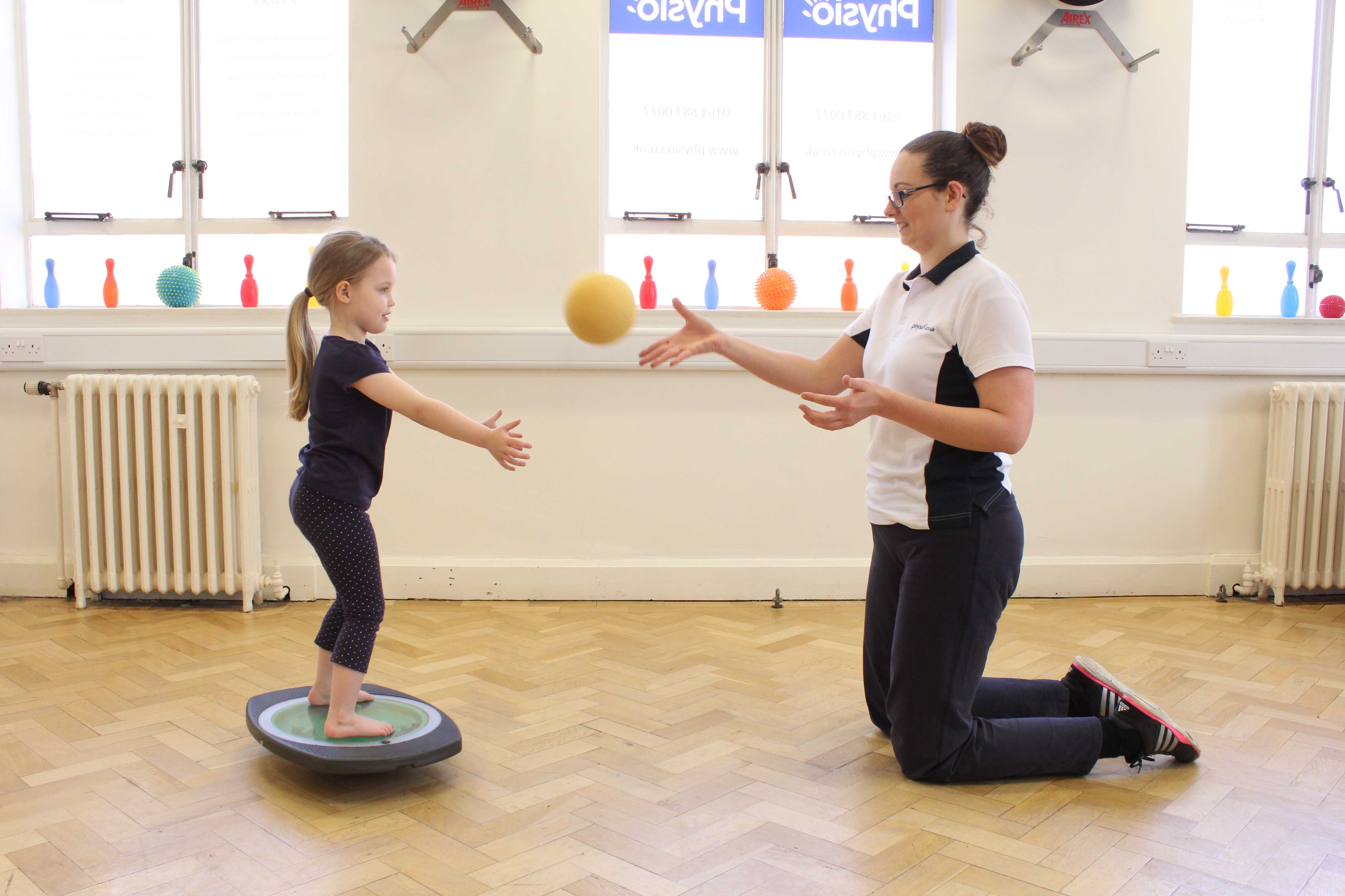 Dynamic balance training to improve co-ordination
