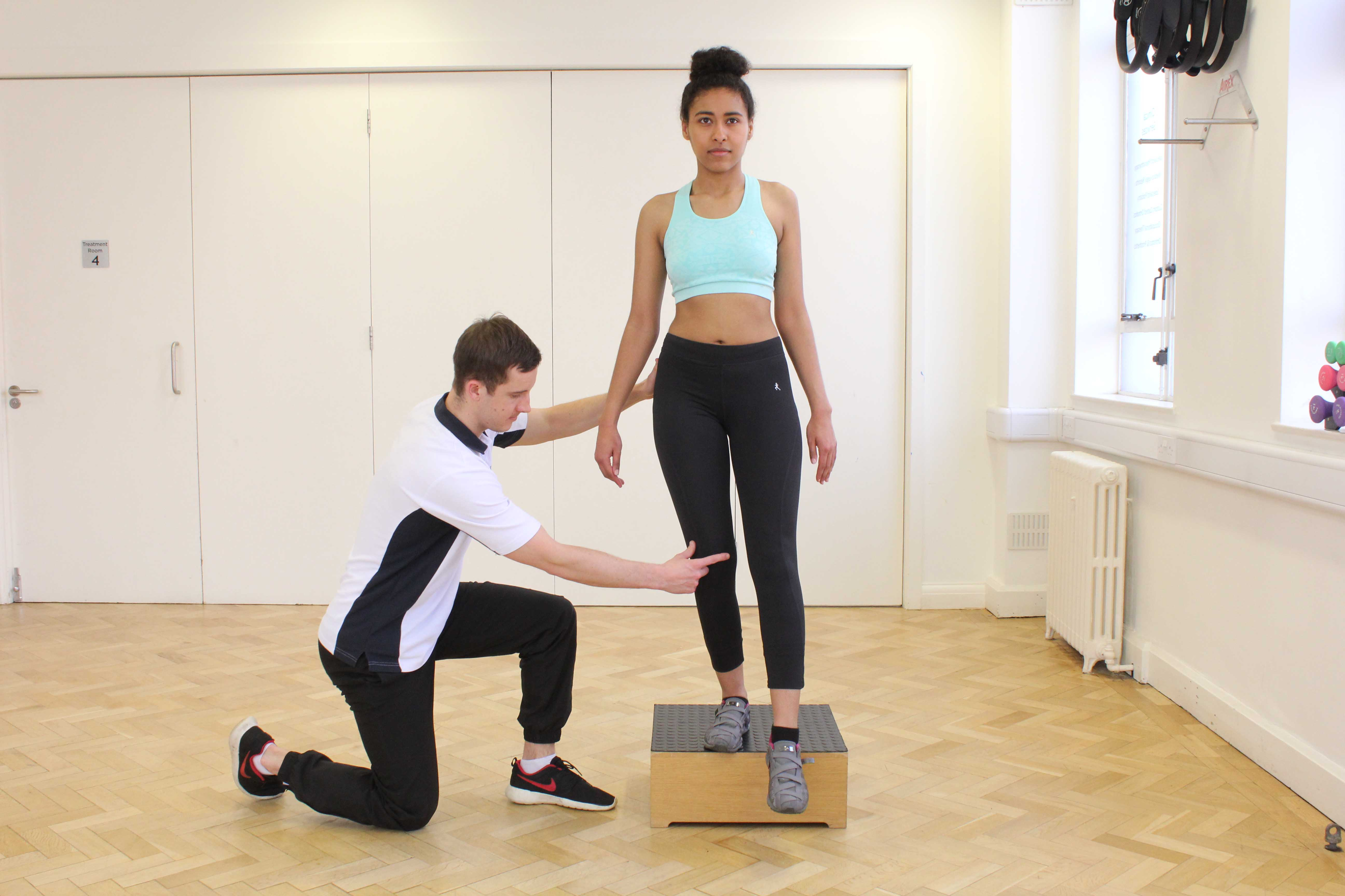 Physiotherapist led exercise in controlling foot pronation