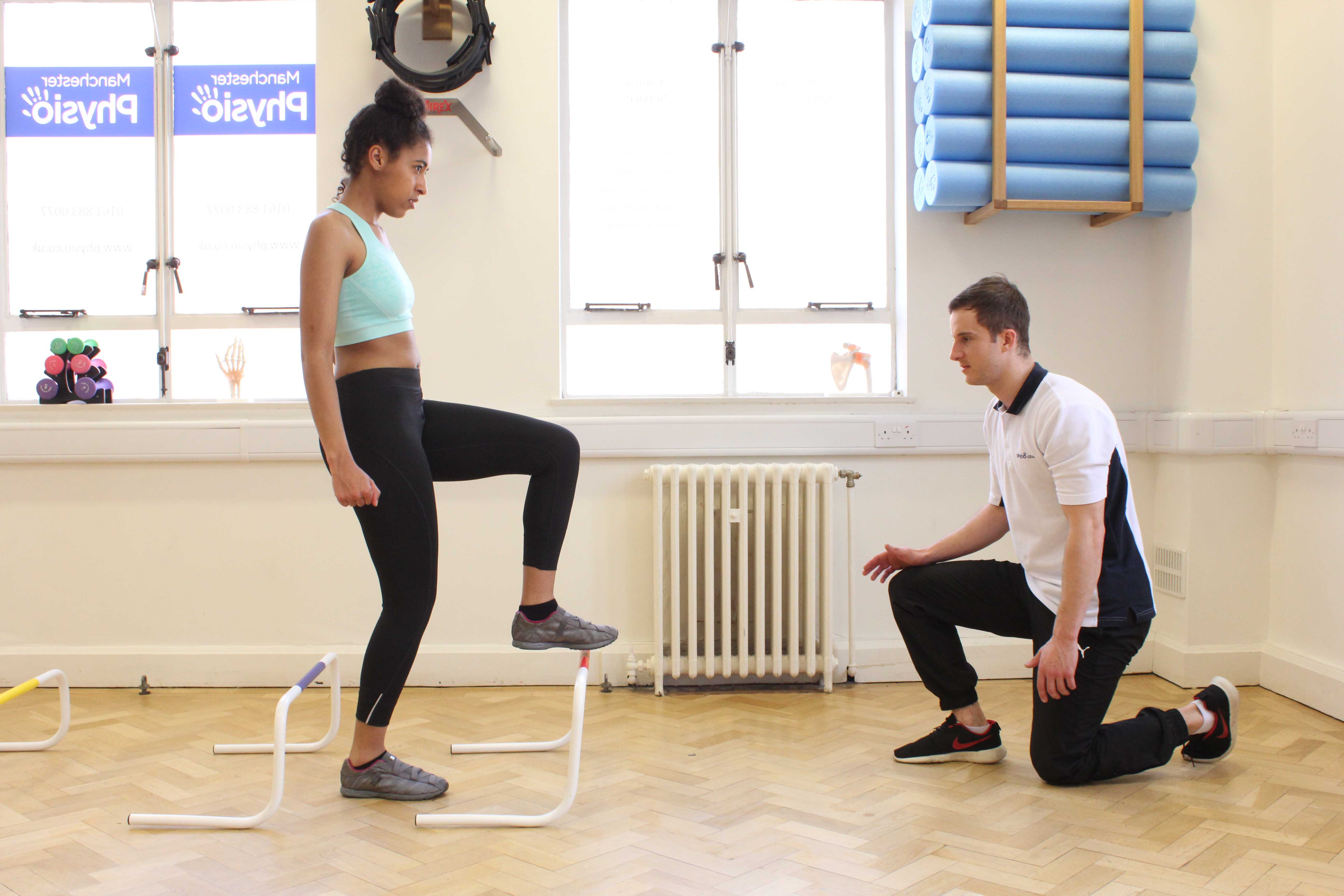 Co-ordination and mobility exercises supervised by Physiotherapist
