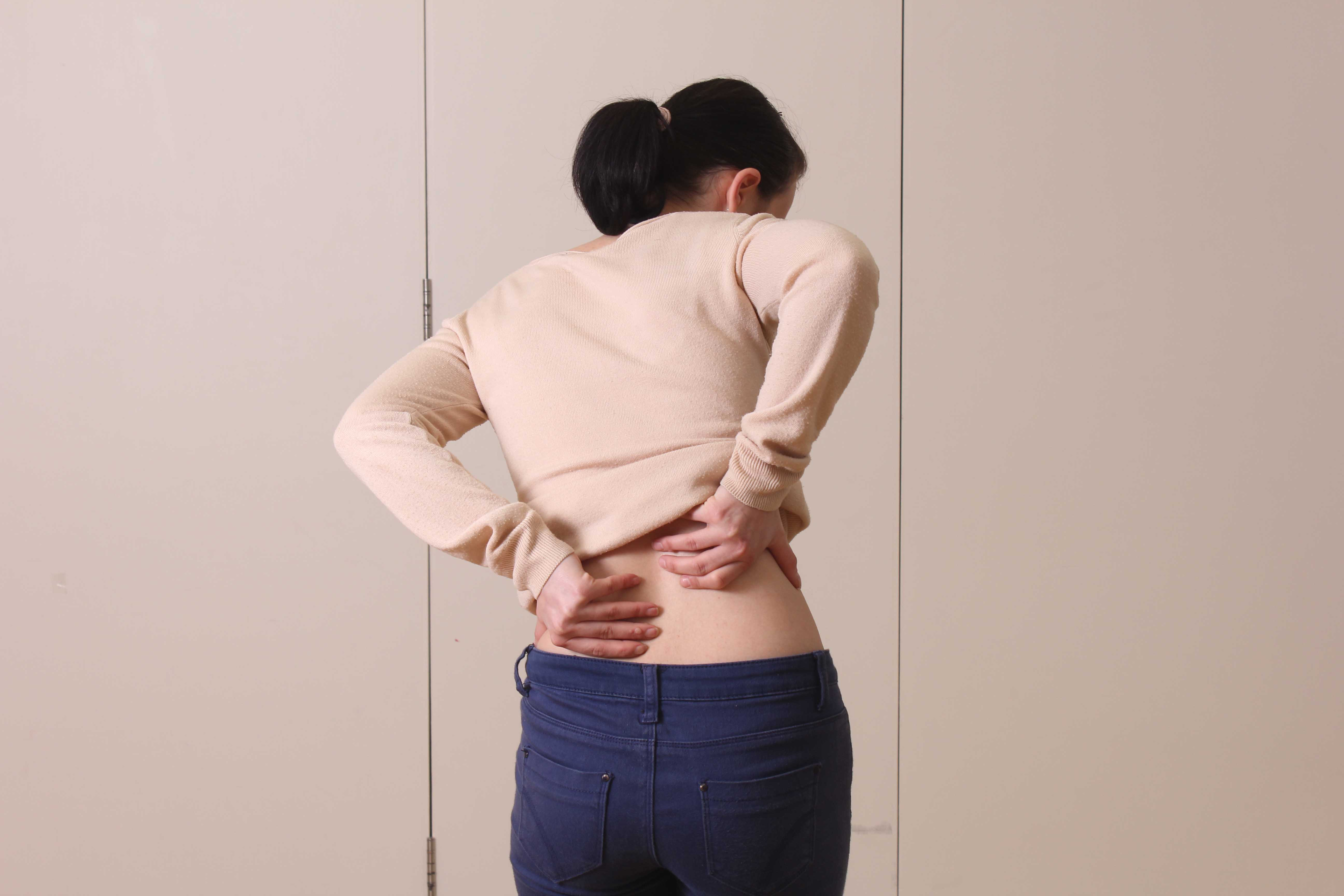 Pain associated with the muscles and connective tissues of the lower back
