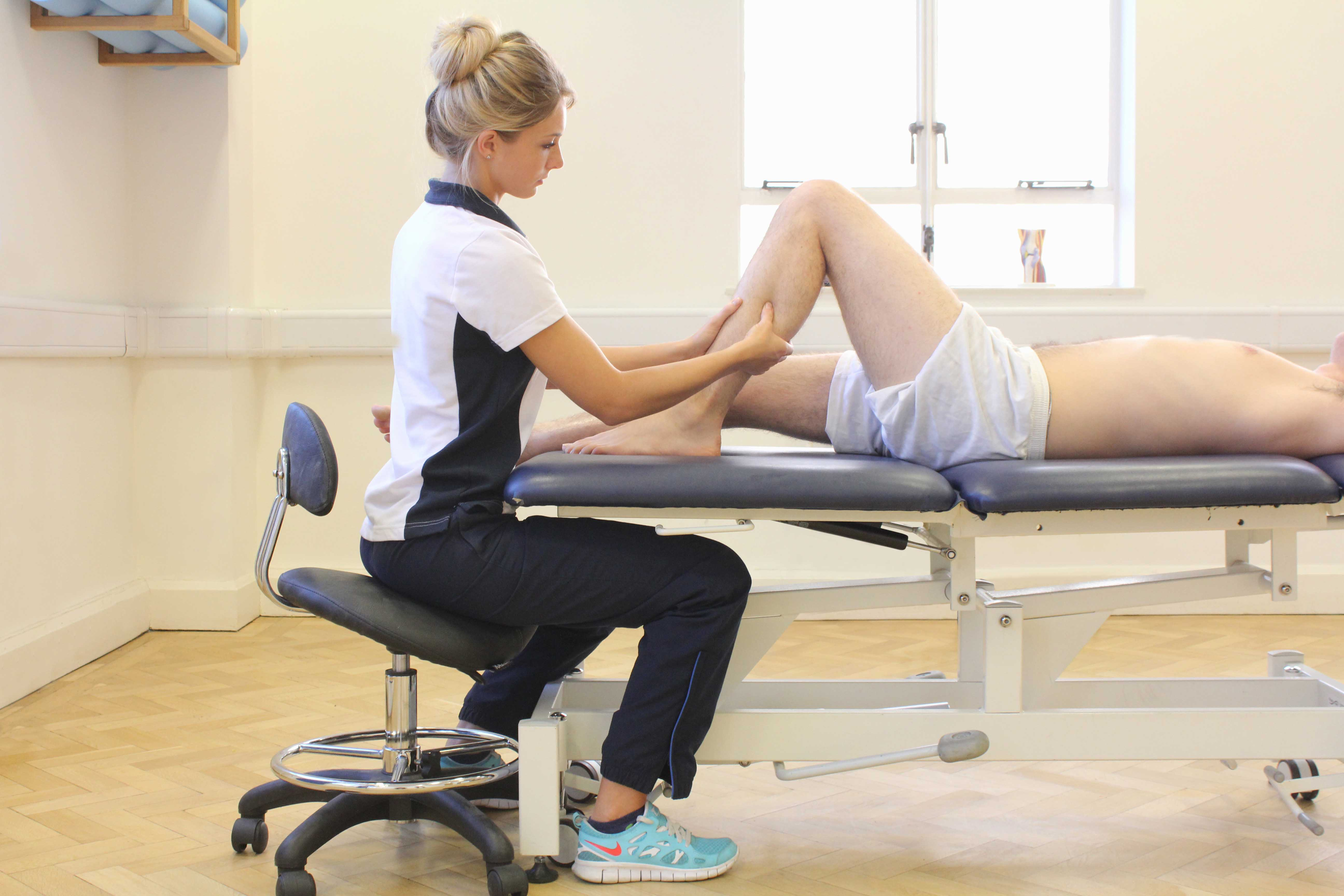 Soft tissue massage of Soleus muscle