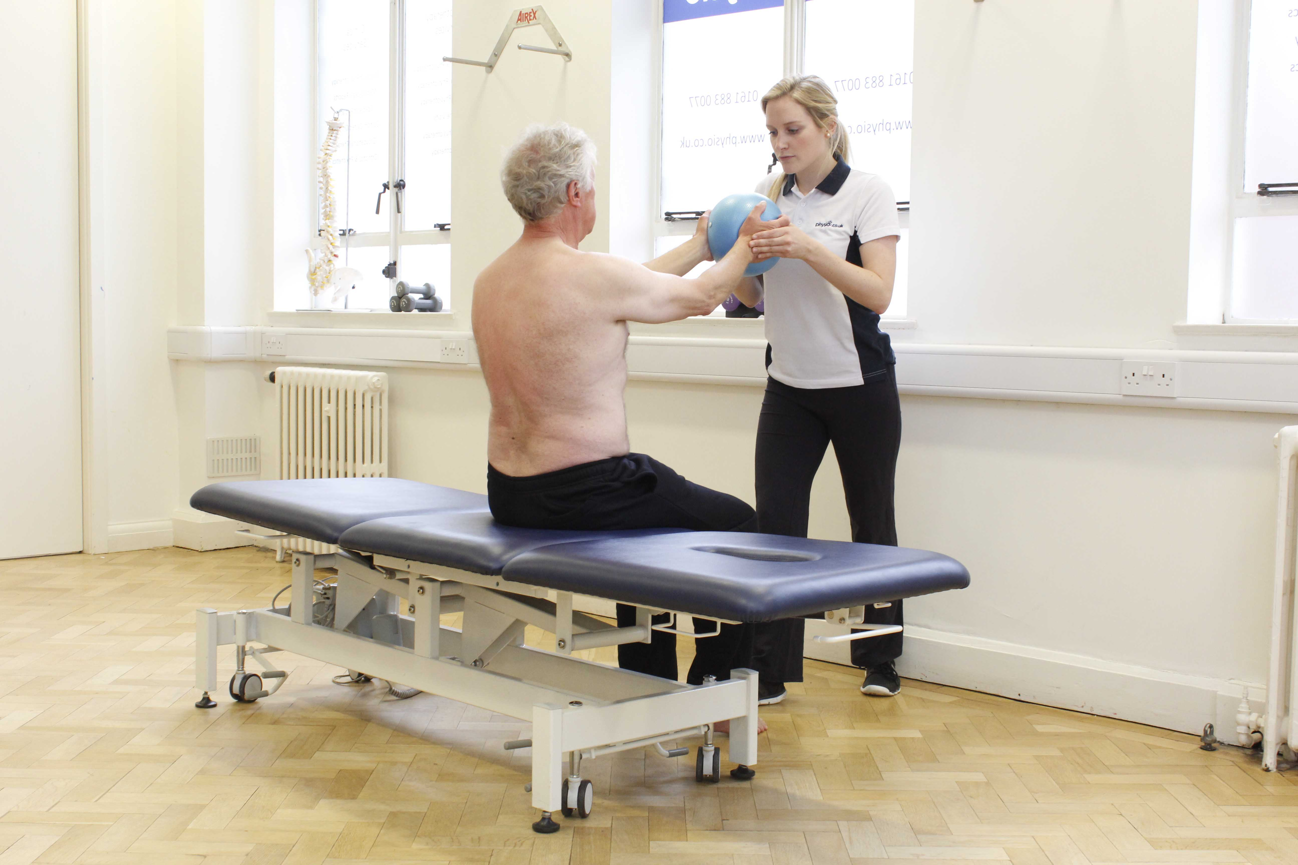 Functional mobility exercises supervised by a neurological physiotherapist