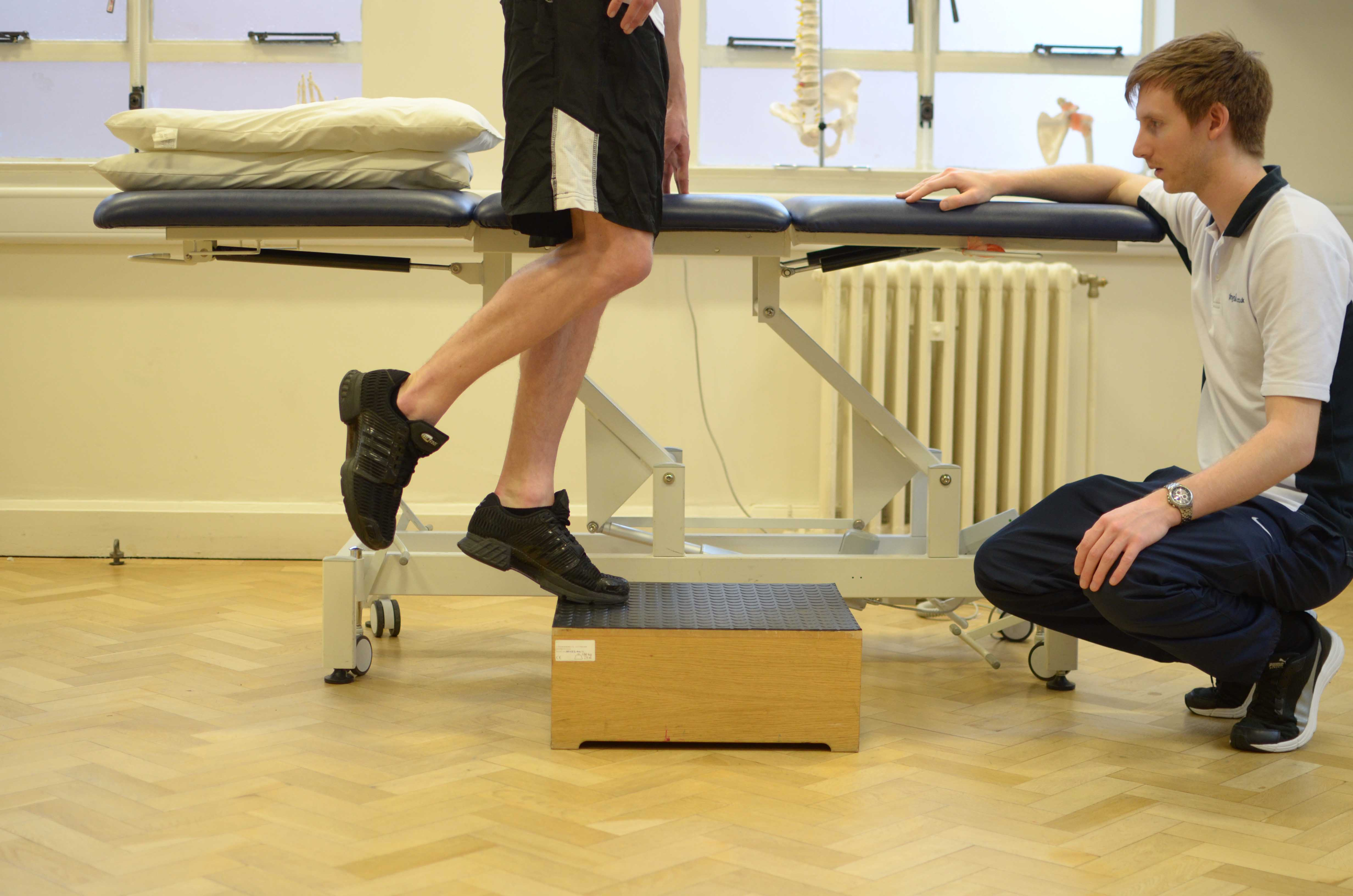 Progressive ankle strengthening exercises supervised by specialised physiotherapist