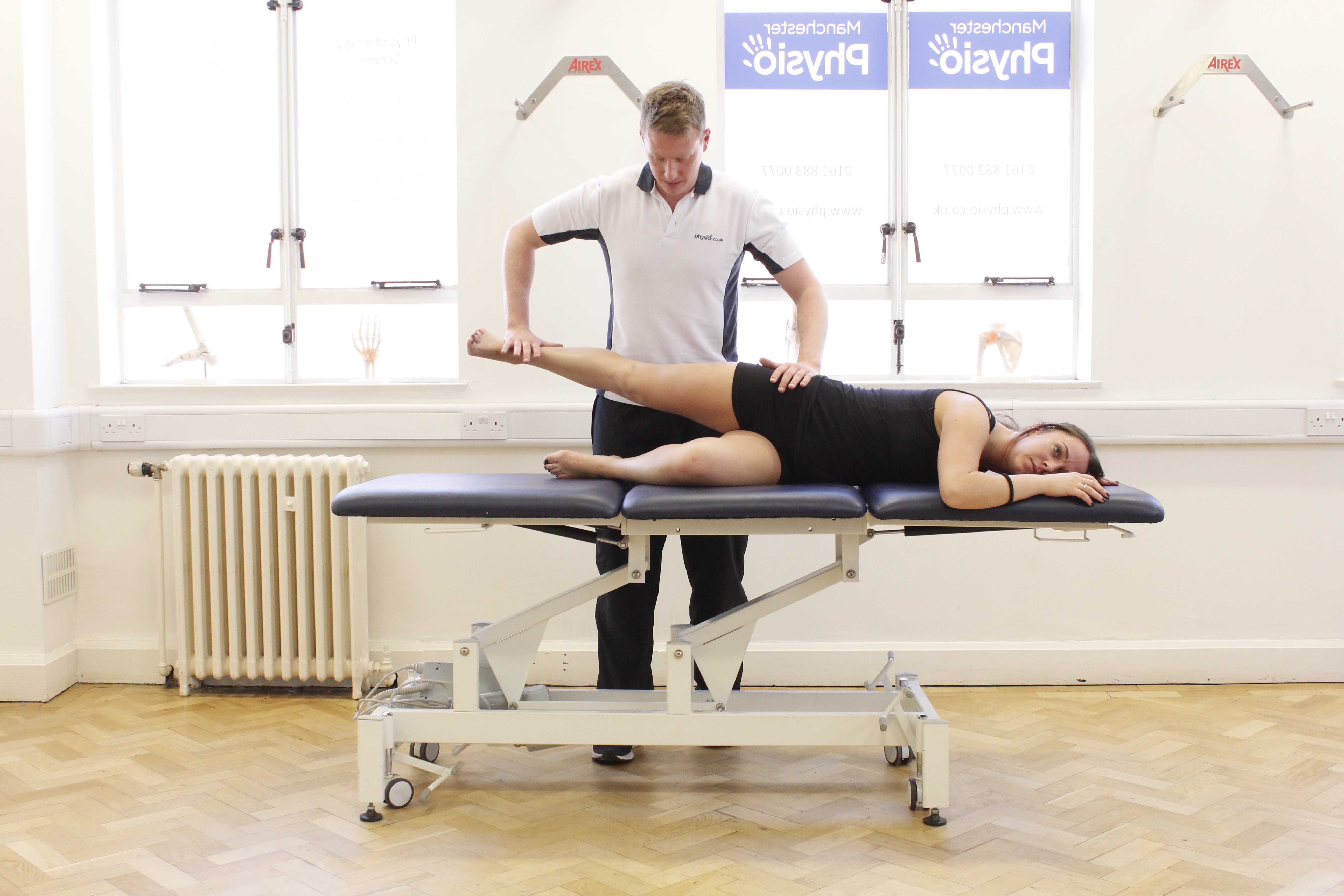 Toning and strenghtening exercises assisted by specialist MSK Physiotherapist