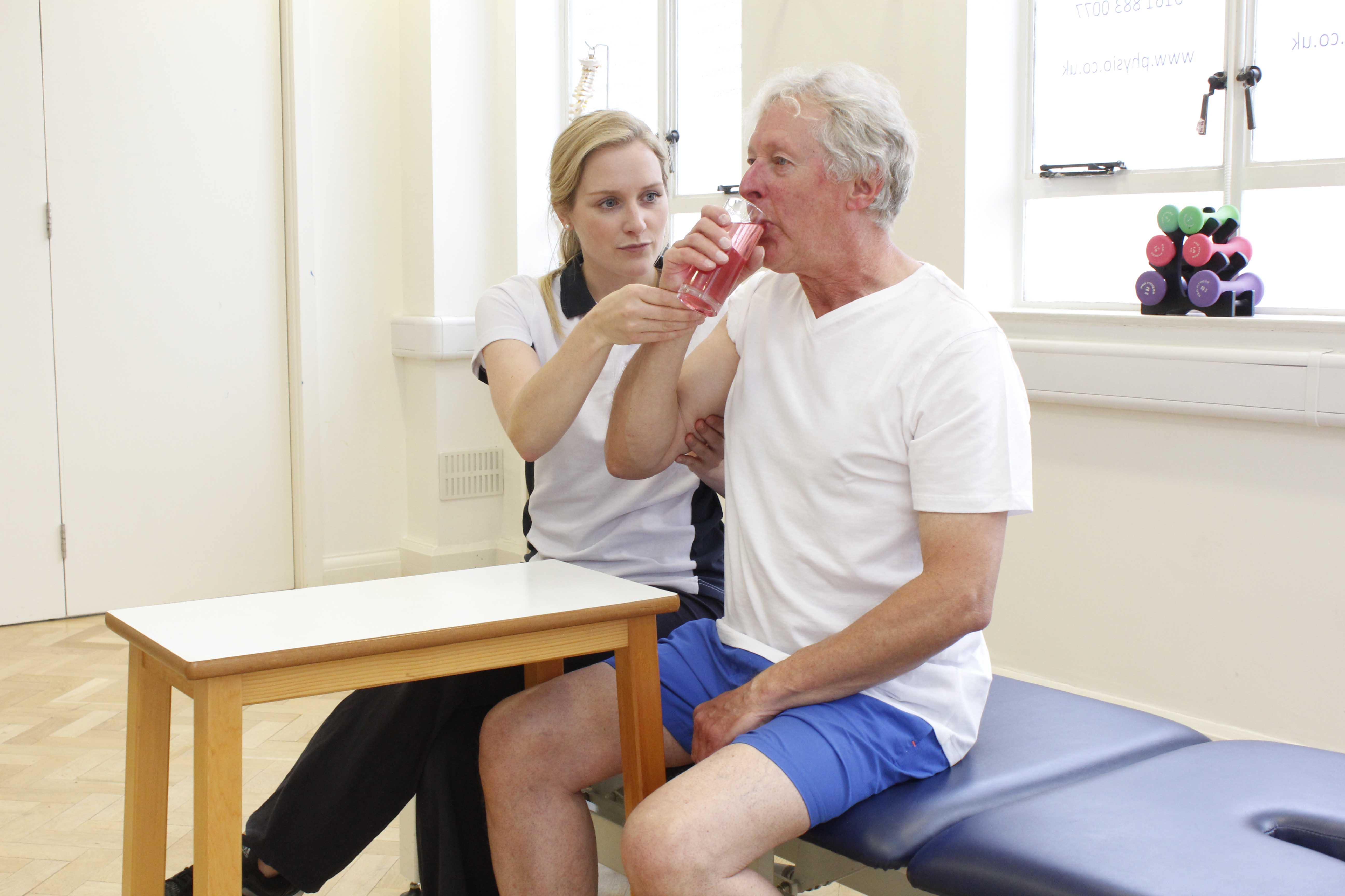 Functional rehabilitation exercises assisted by specilaist Physiotherapist