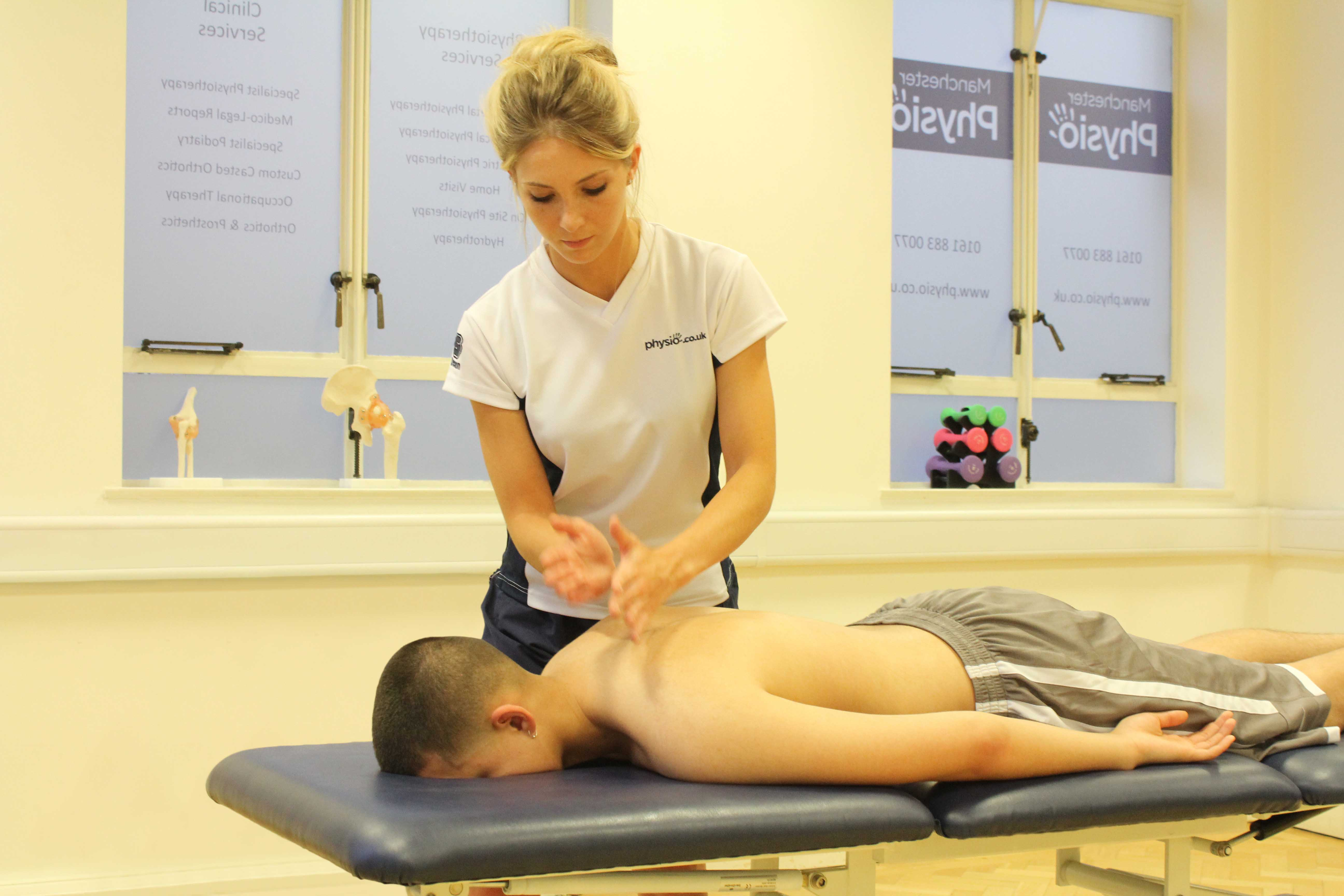 Hacking percussion massage applied by an experienced MSK therapist
