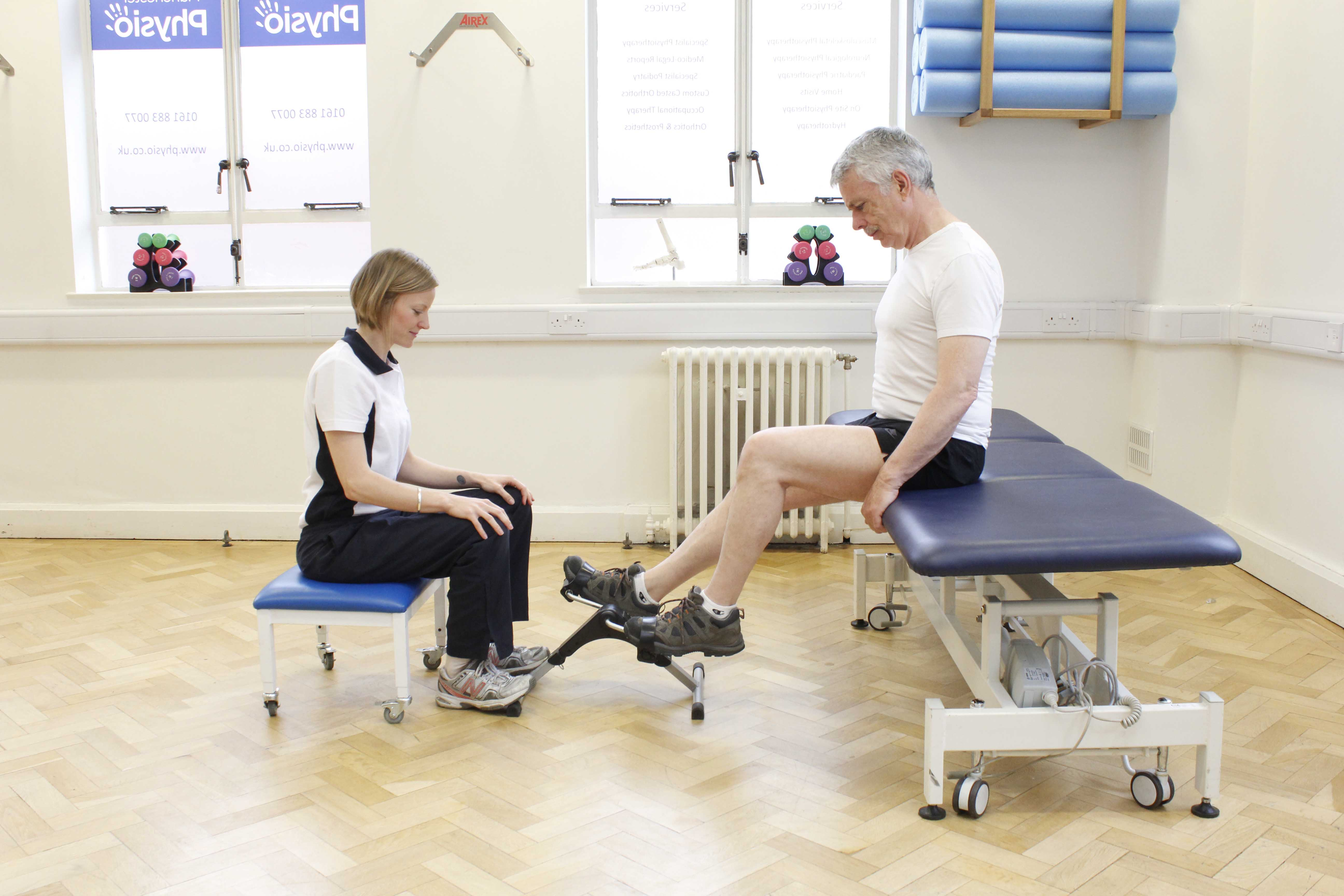 Physiotherapy exercises plans will be adjusted to an appropriate level for the client