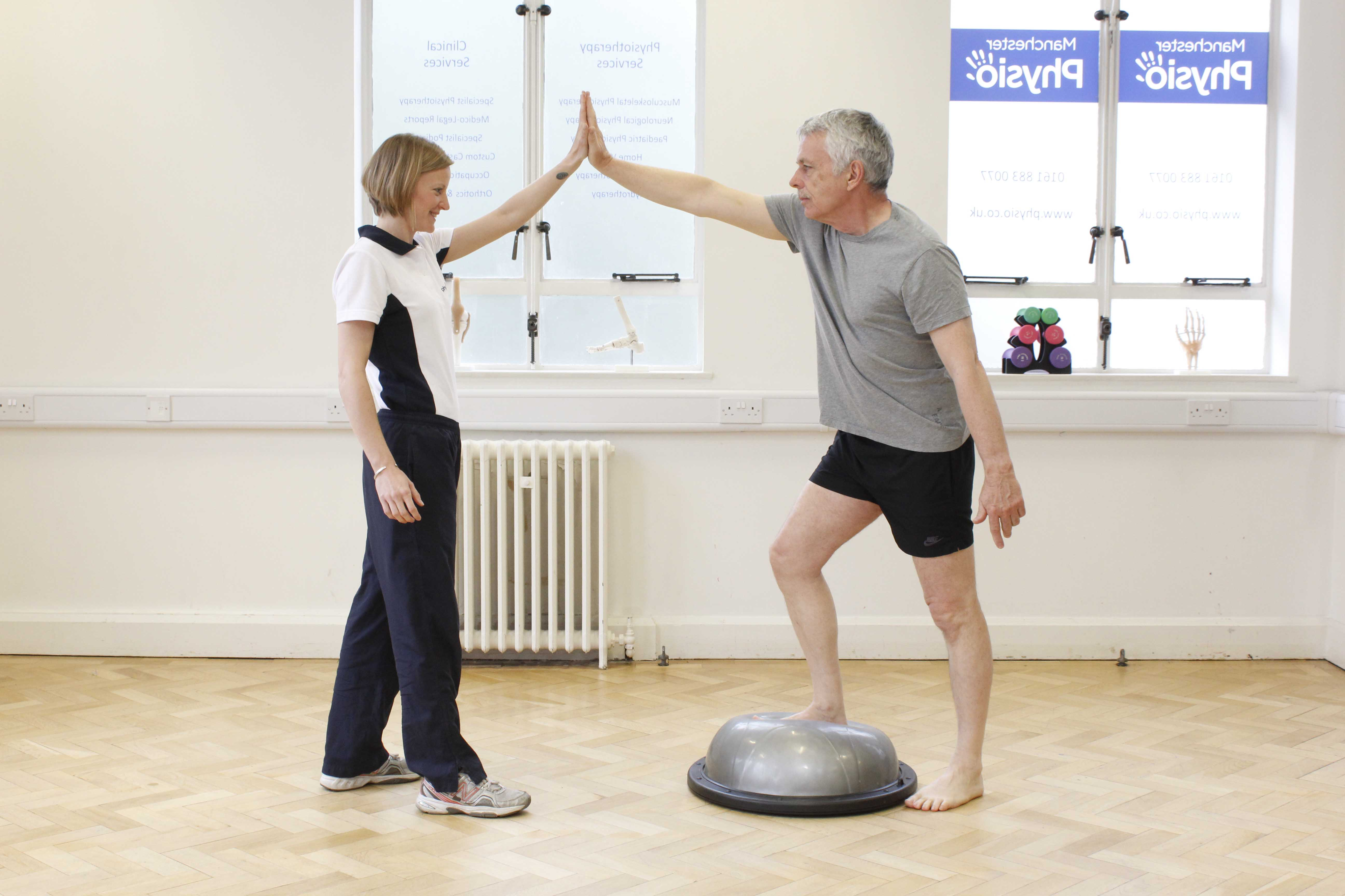 Physiotherapist led stability training to reduce risk of falls