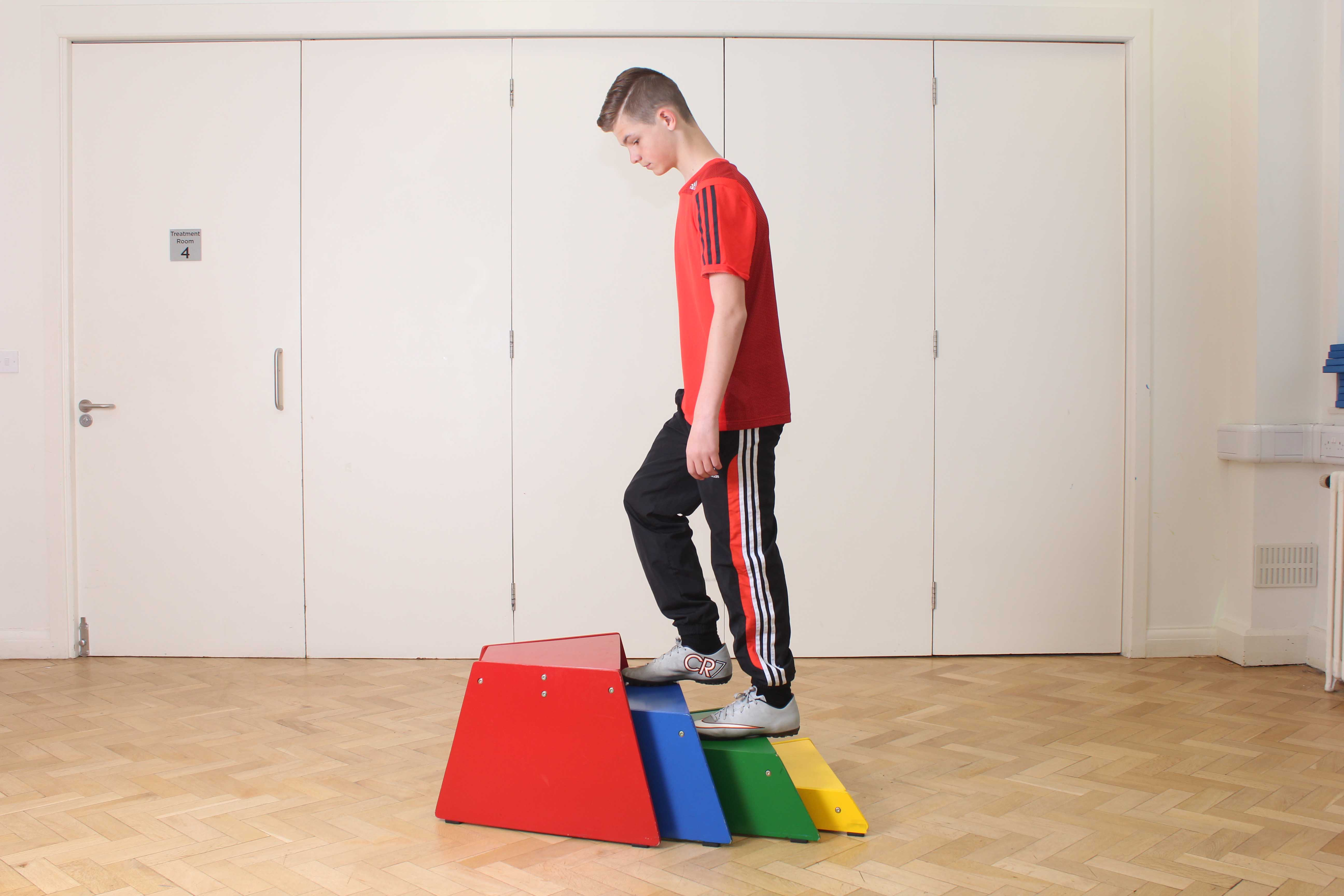 Gait re-education exercises to improve tone, posture and stability