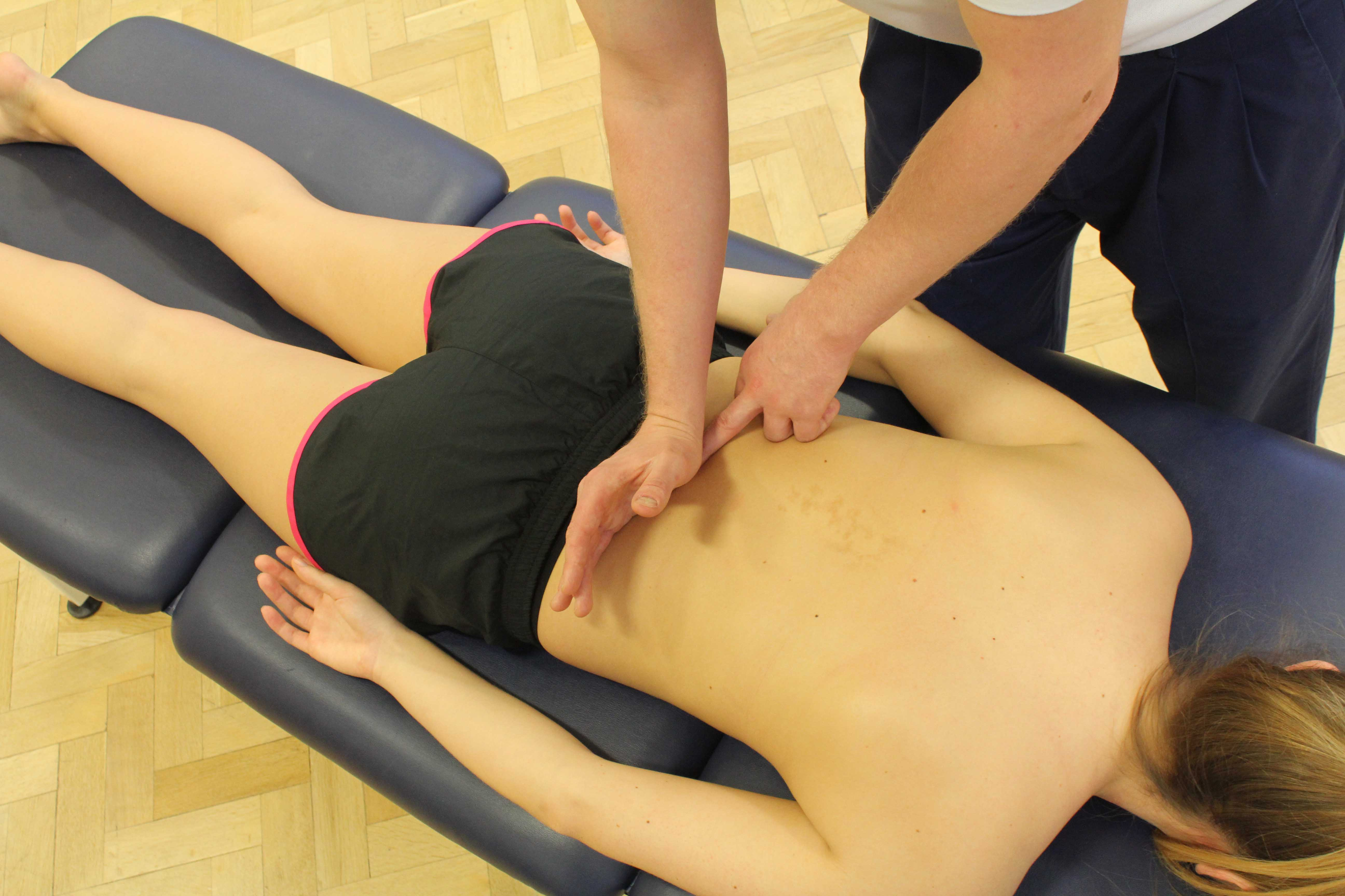 mobilisations of the upper thoracic spine by experienced physiotherapist
