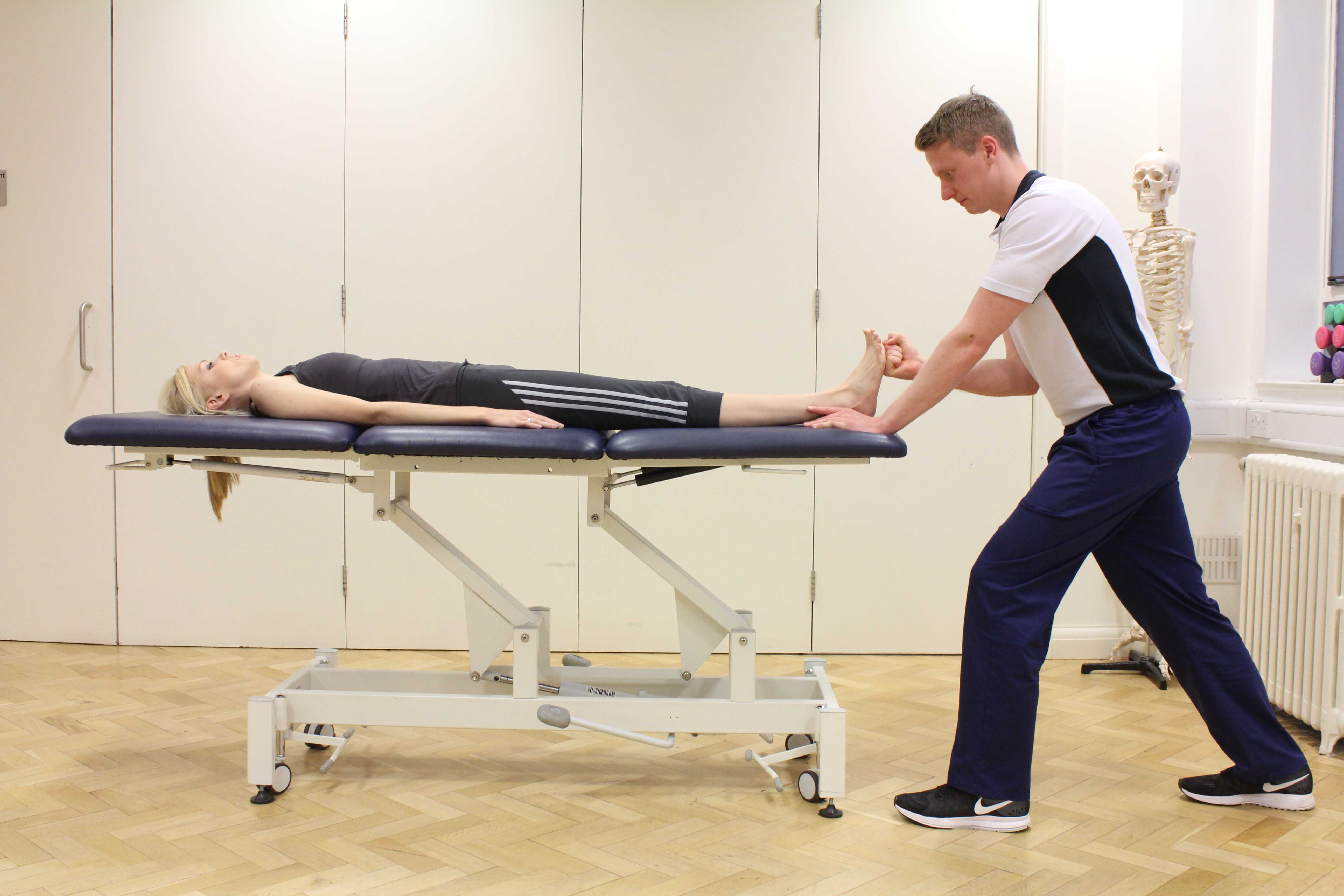 Foot and ankle assessment conducted by specialist MSK physiotherapist