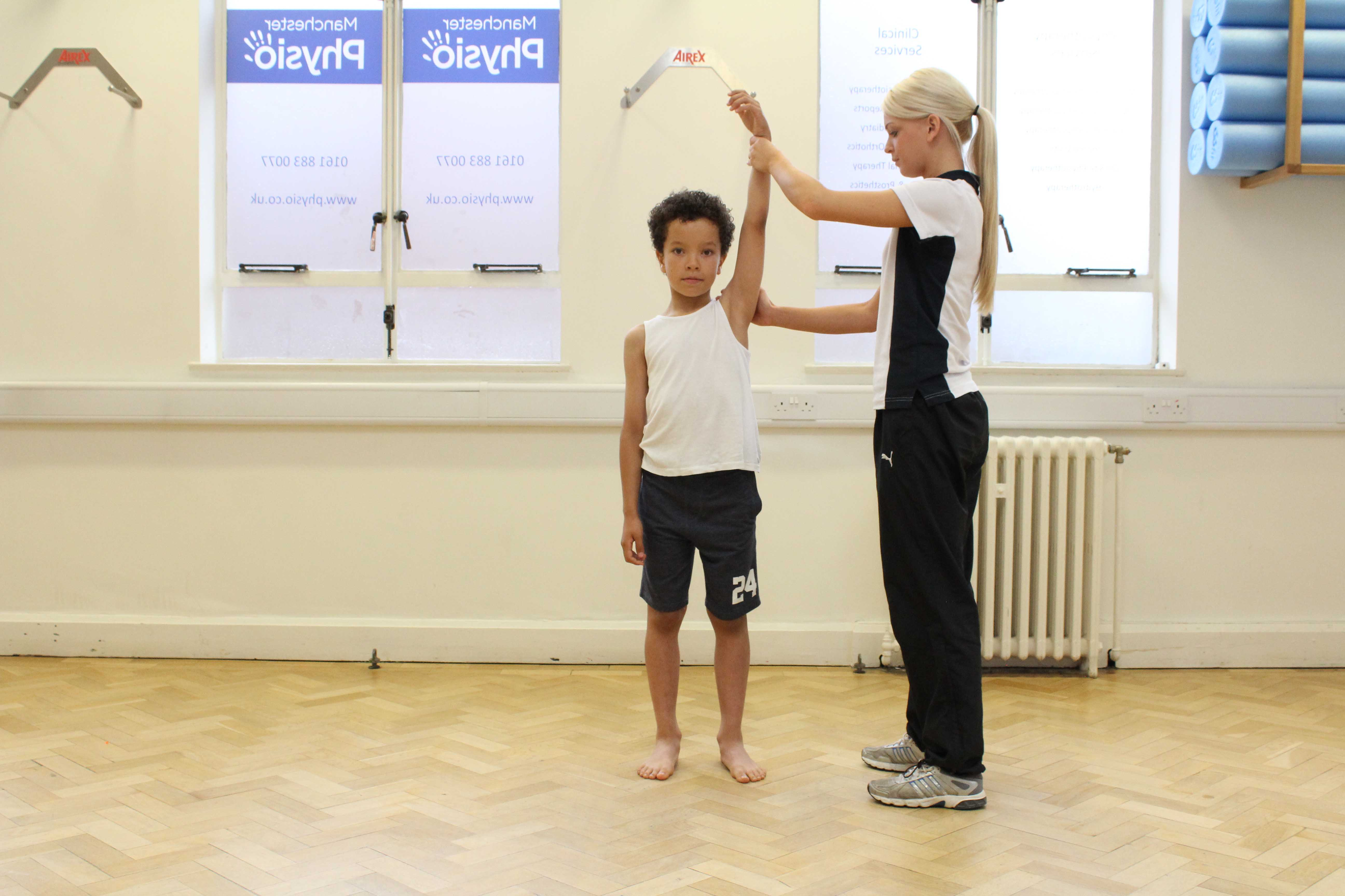 stability and toning exercises supervised by a paediatric physiotherapist