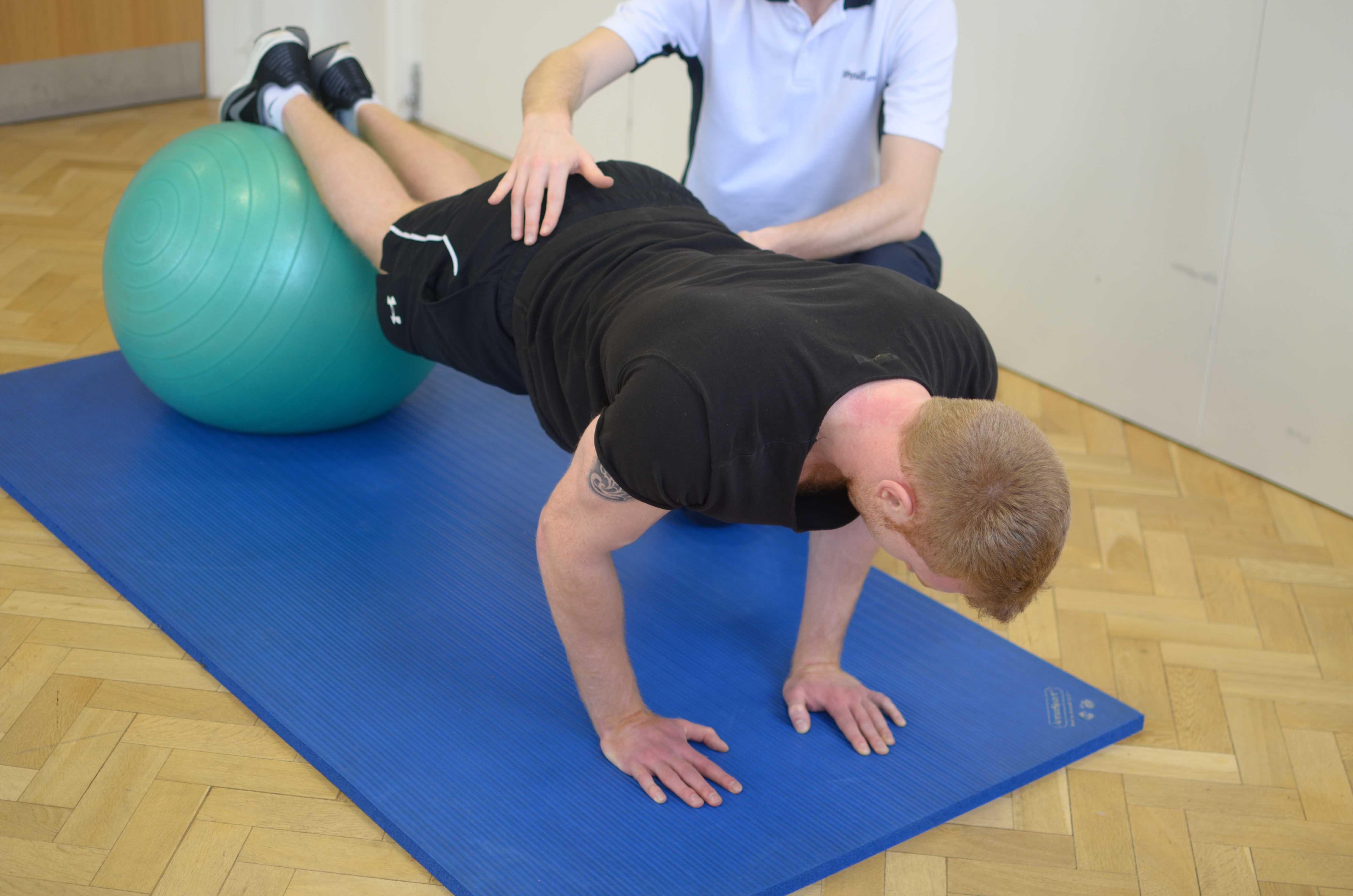 Mobilisation and strengthening exercises for the lower back