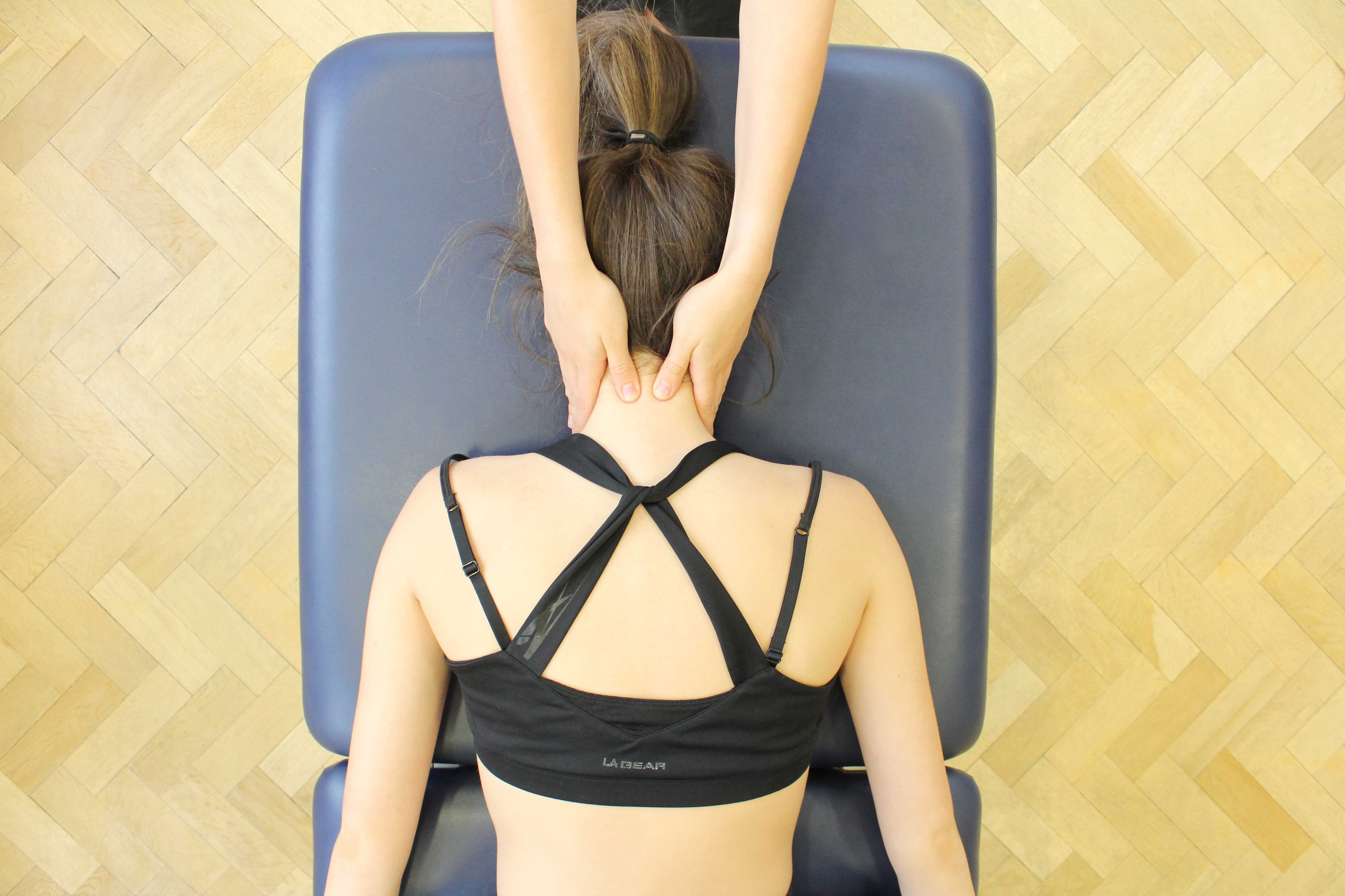 Mobilisations to the cervical vertebrea to releive pain and stiffness