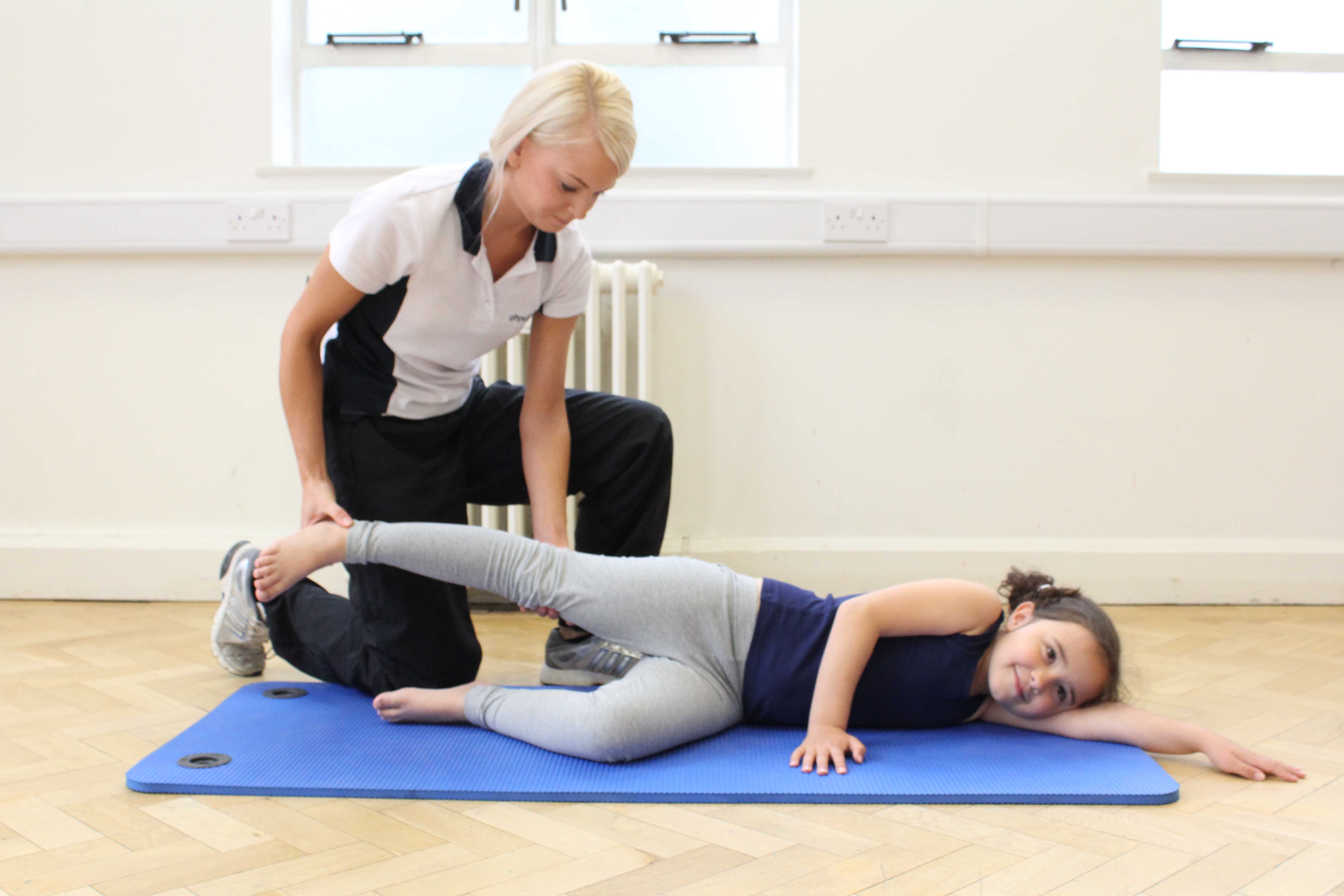 Toning and strengthening exercises to stabilise the joints