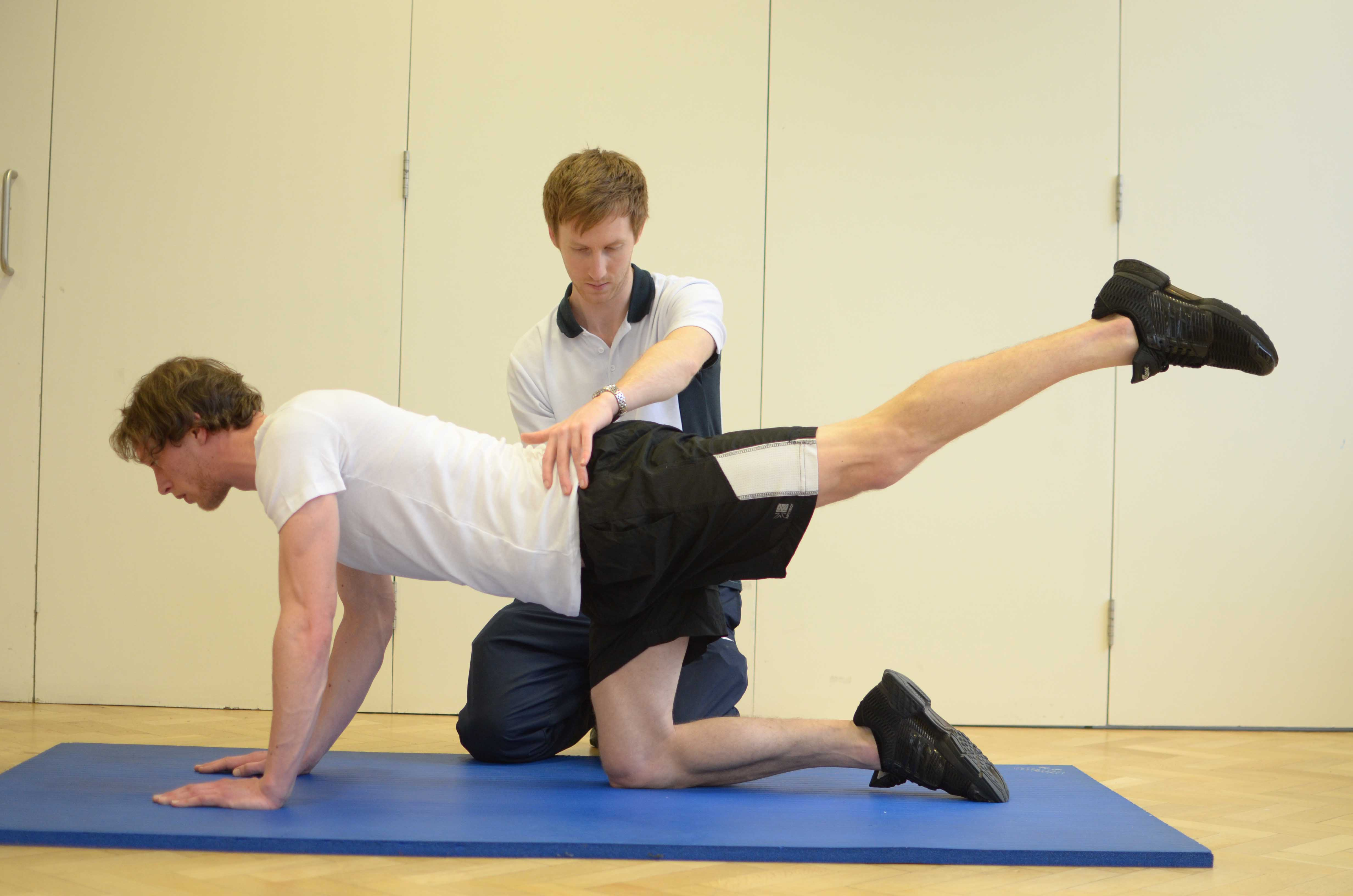 Strengthening and mobilisation exercises performed under supervision from a physiotherapist.