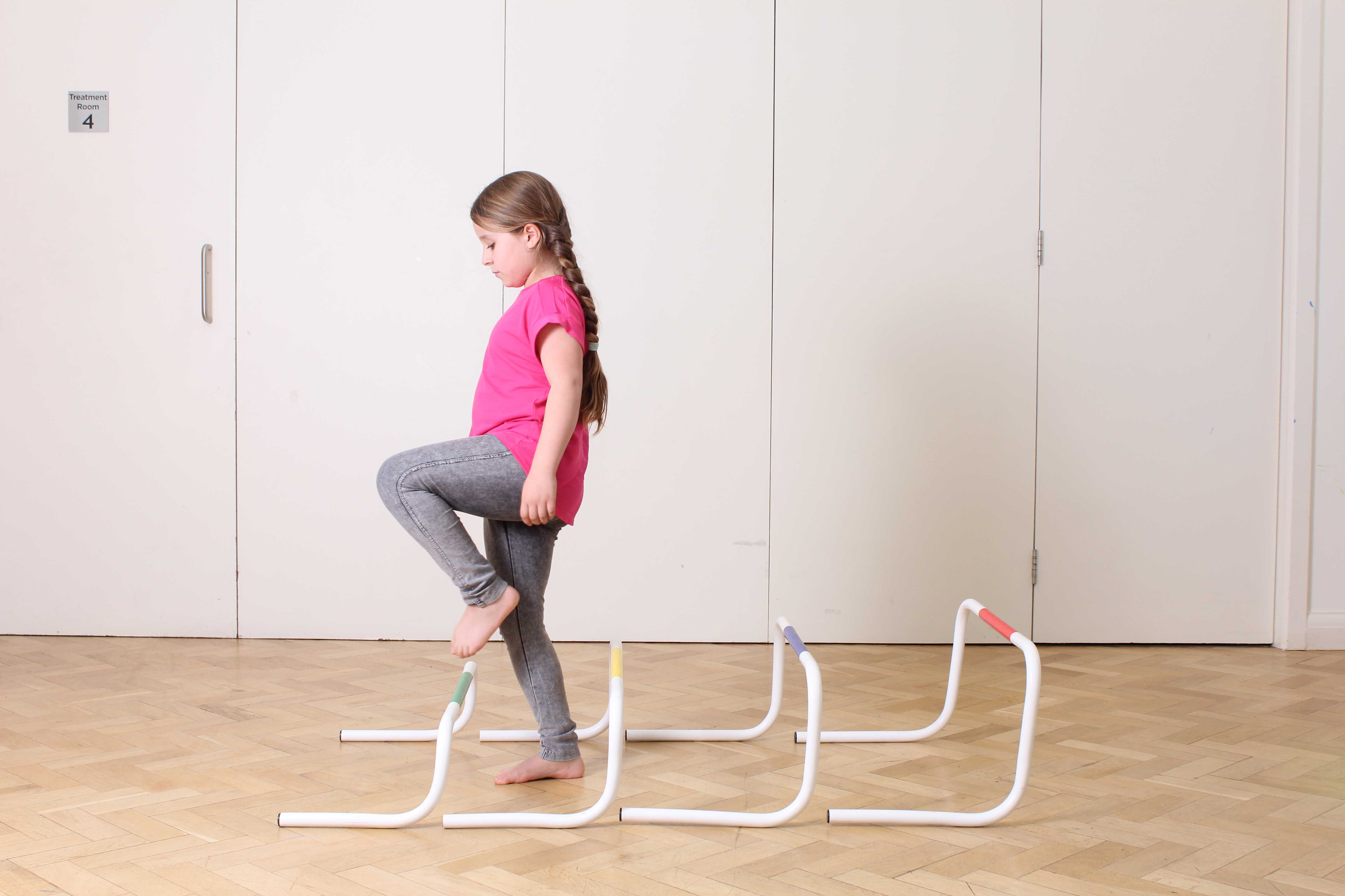 Mobility rehabilitation exercises supervised by a paediatric physiotherapist