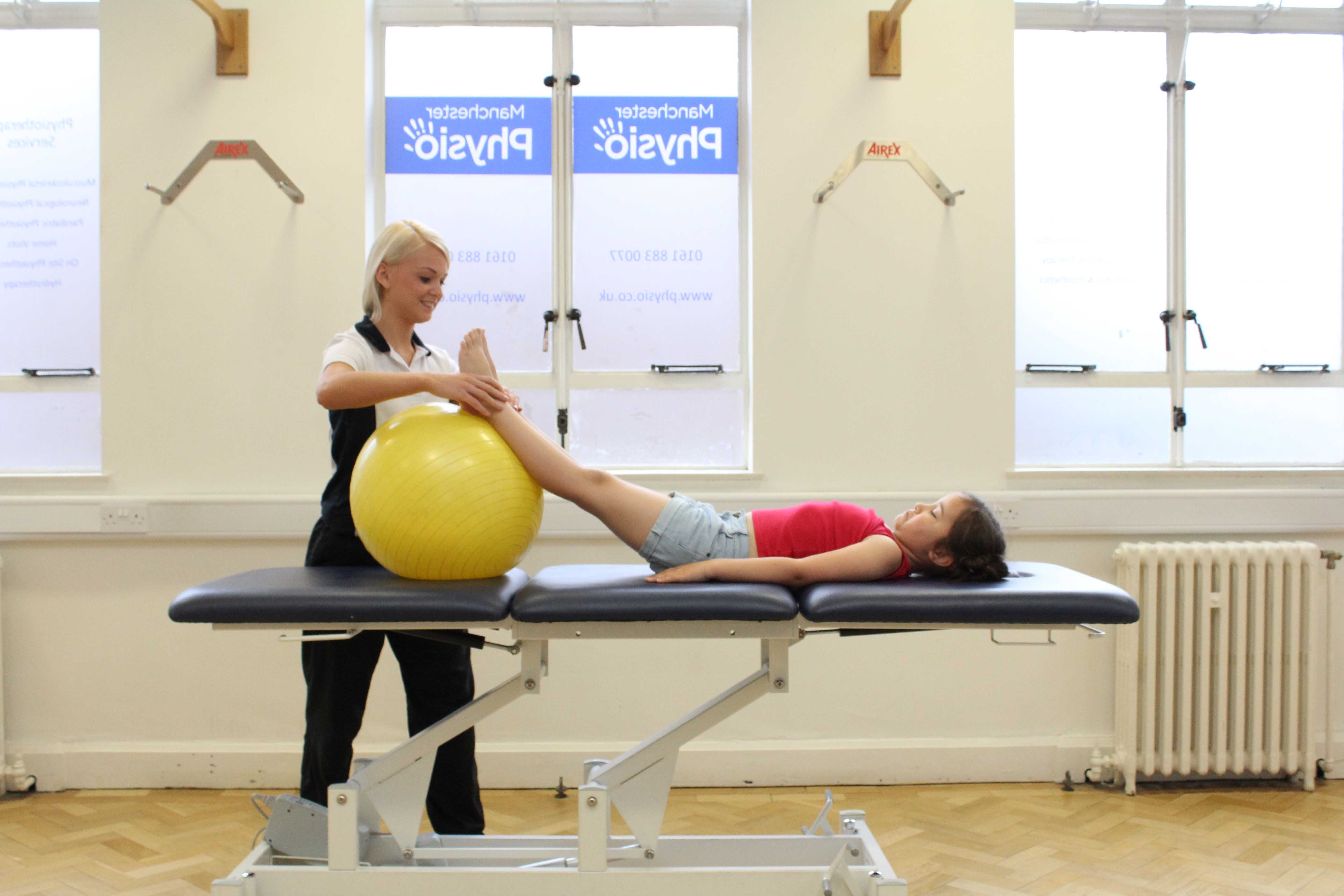 Massage and mobilisation of the knees to relieve pain and stiffness