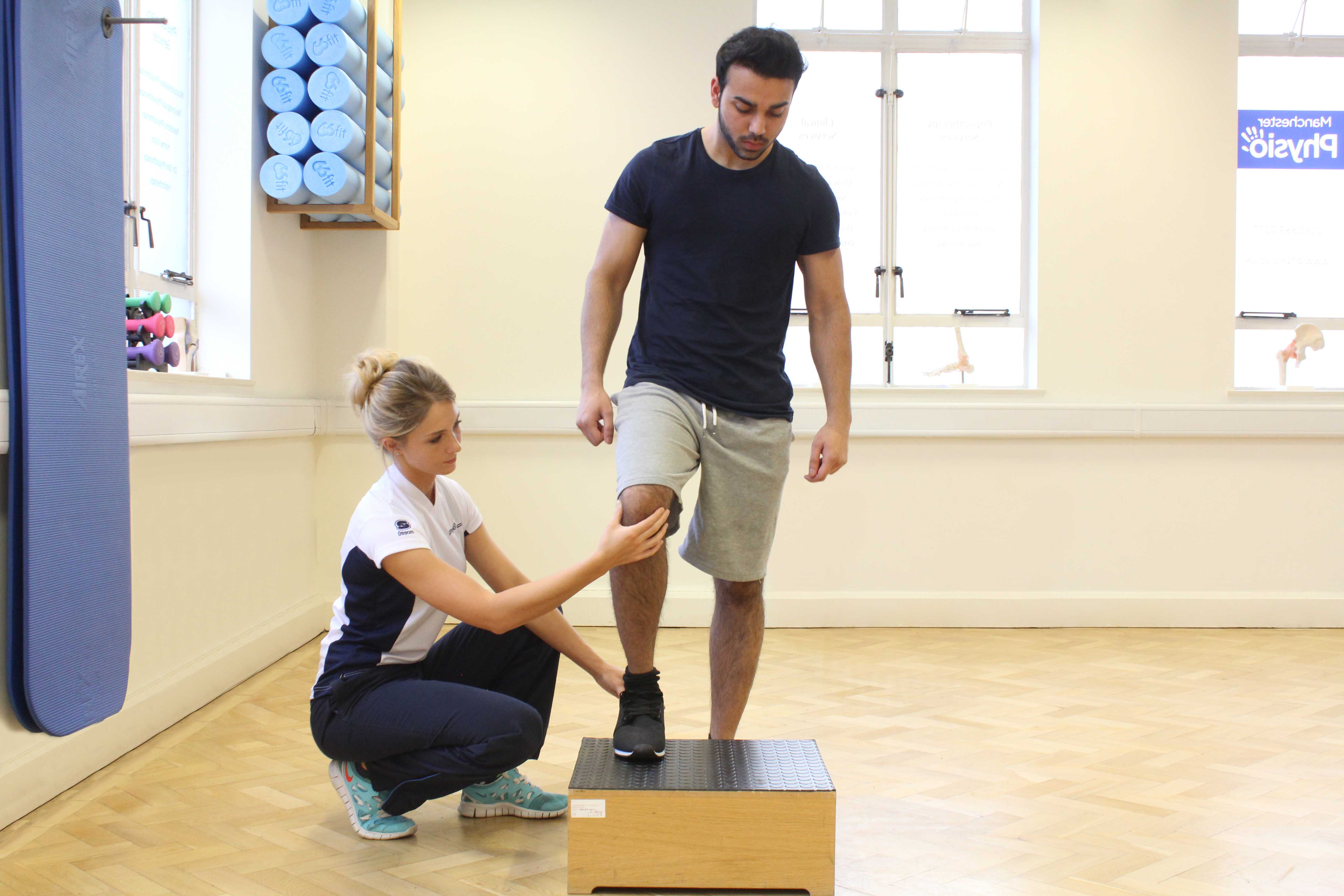 Functional strengthening ankle exercises supervised by MSK therapist