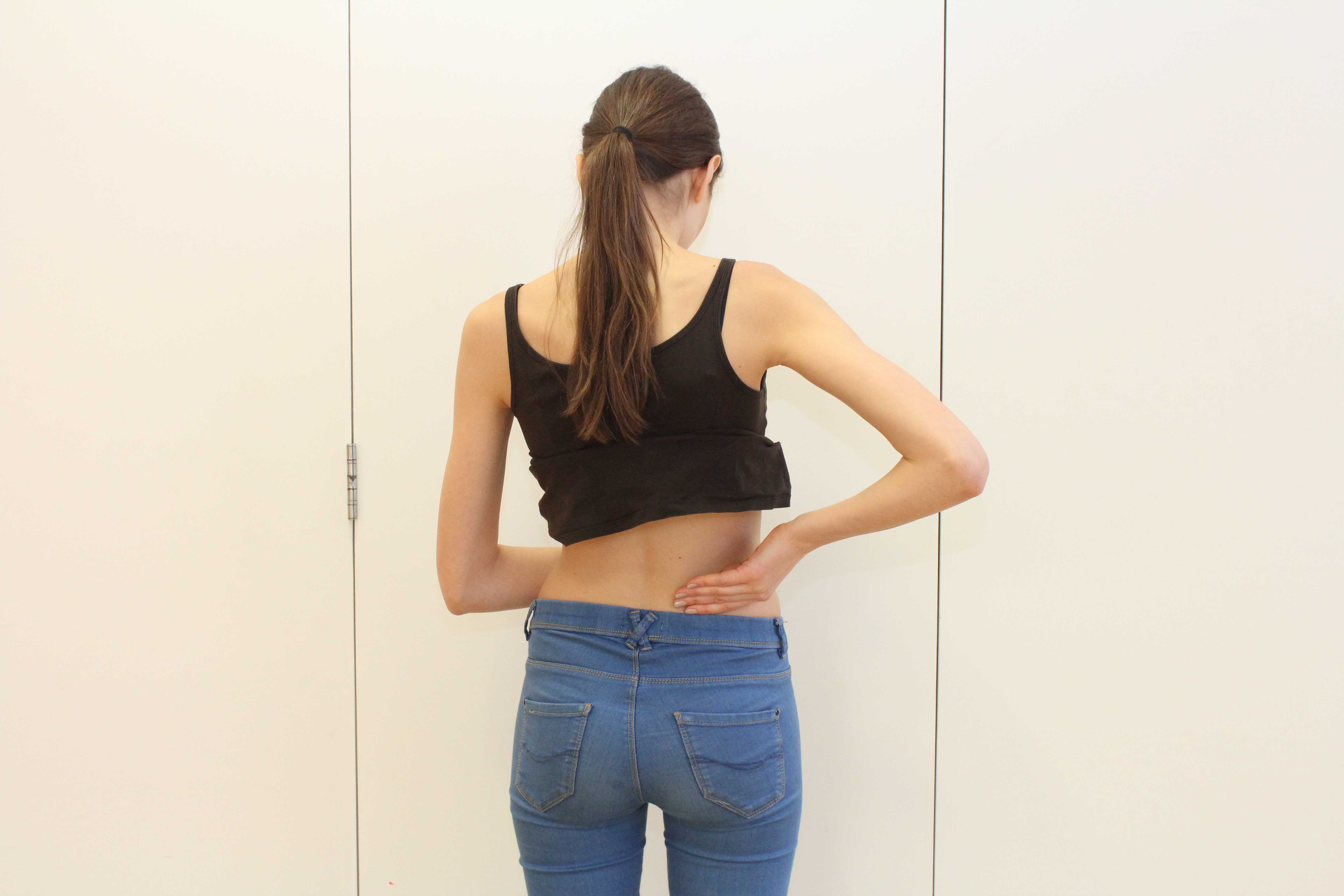 Back pain caused by impairment of the lumbar discs or vertebrea