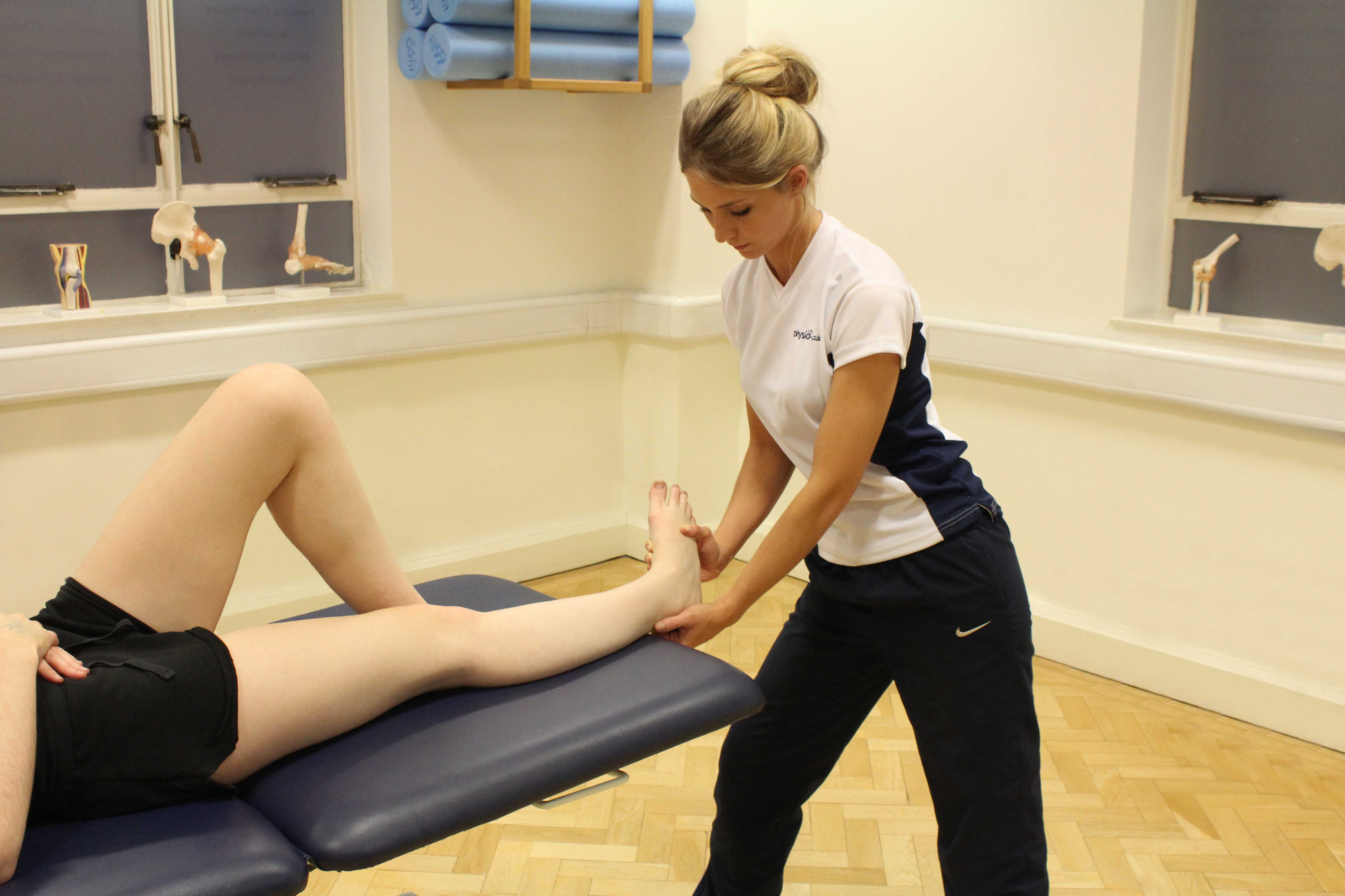 Massage of the foot and ankle by a specilaist massage therapist
