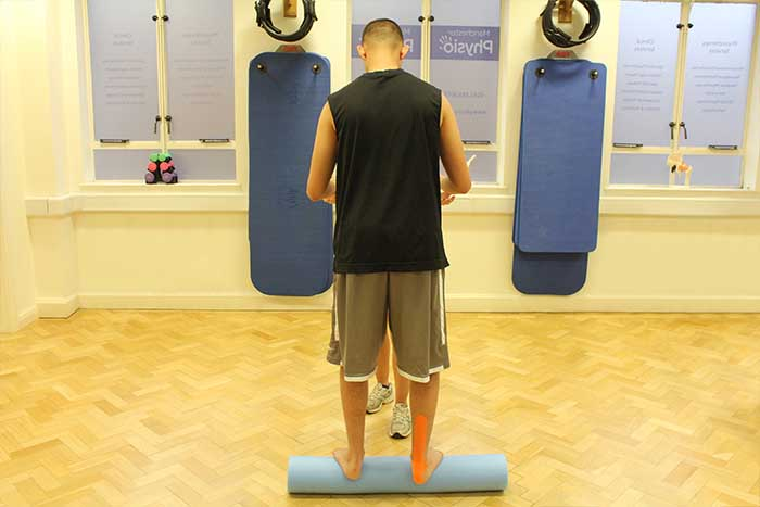 Customer given balance training from instructor in Manchester Physio Clinic