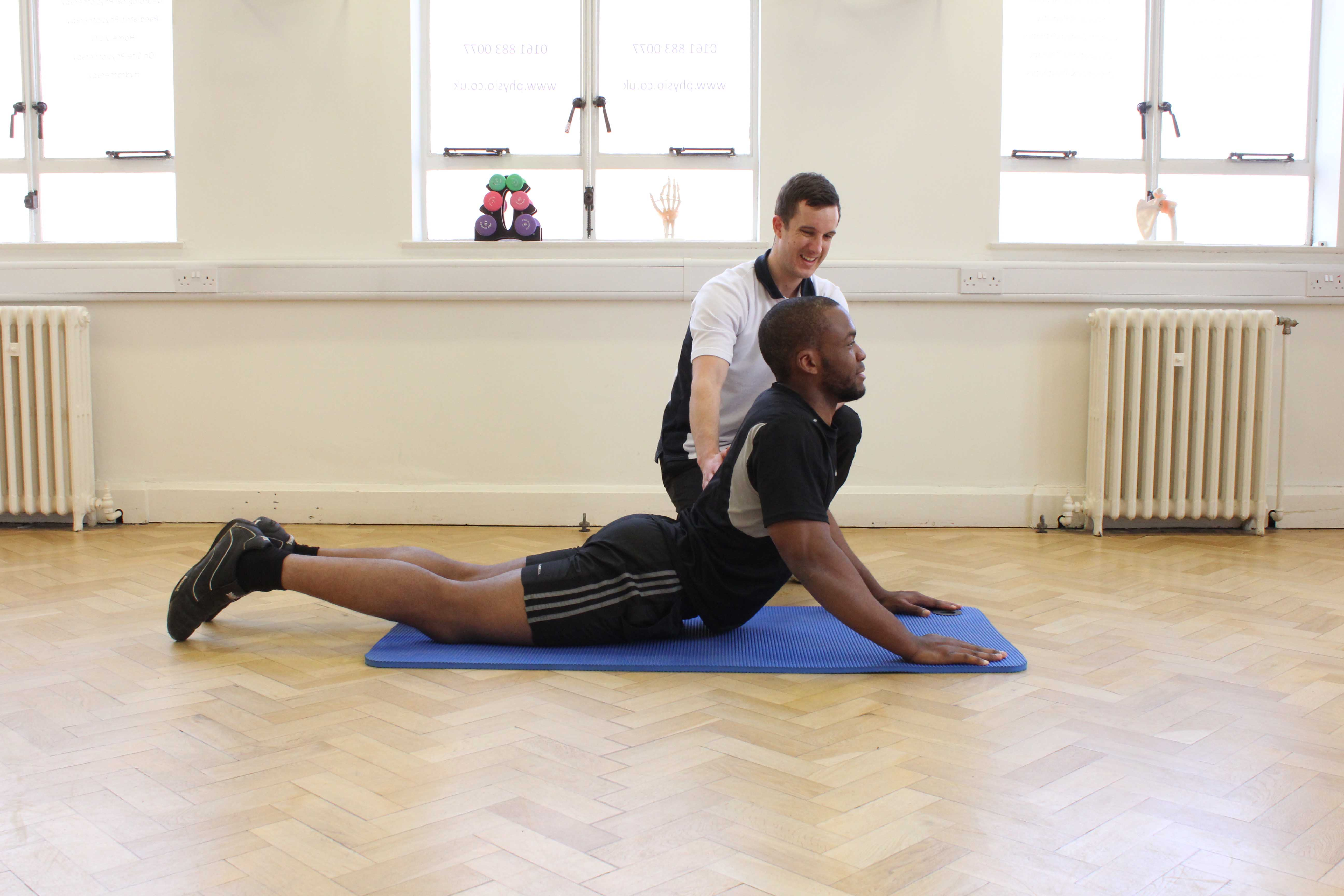 Treatment using the McKenzie concept supervised by experienced physiotherapist