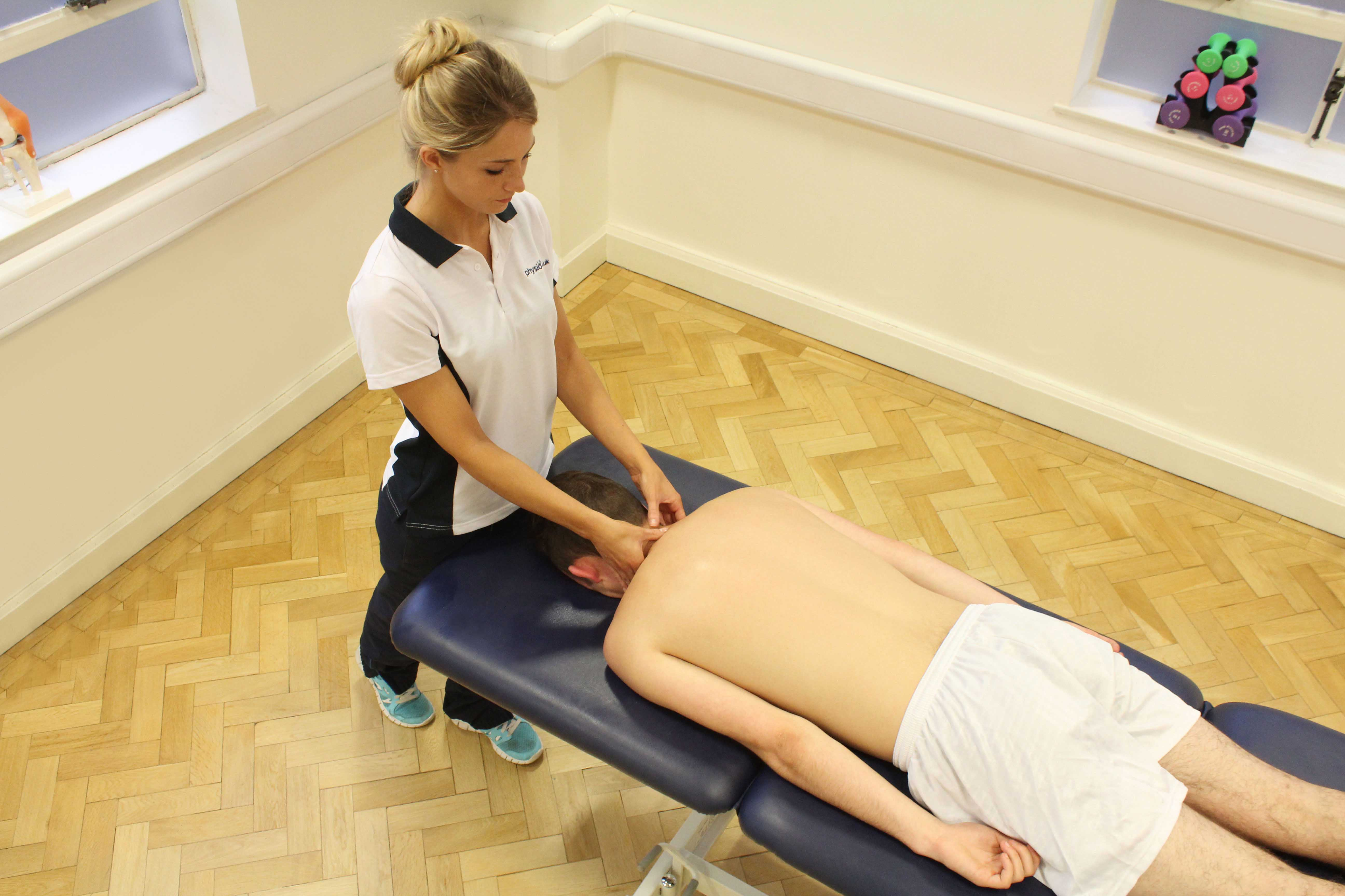 Massage and mobilisations of the cervical spine by a specilaist massage therapist