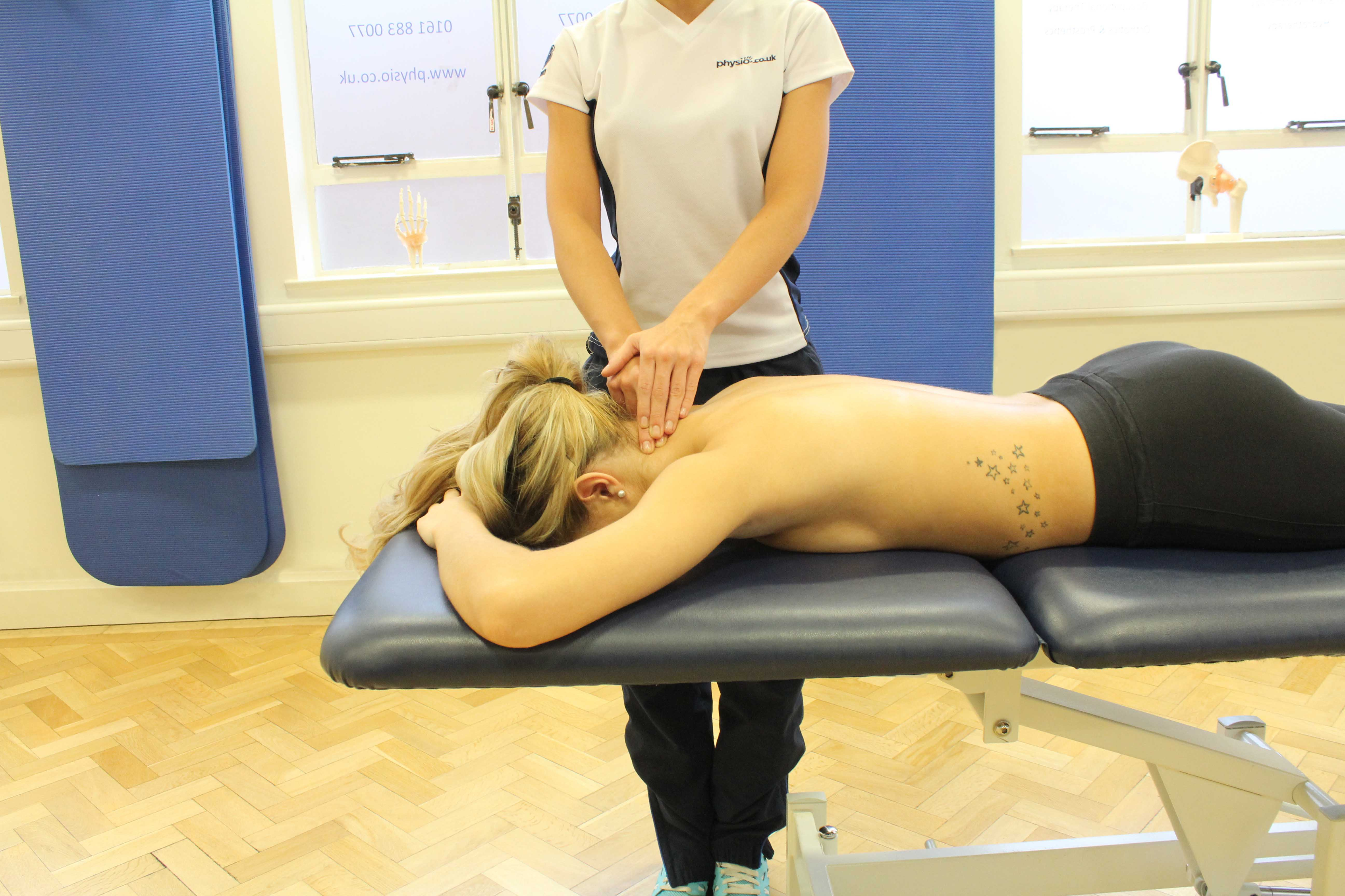 Mobilisations performed on the cervical spine