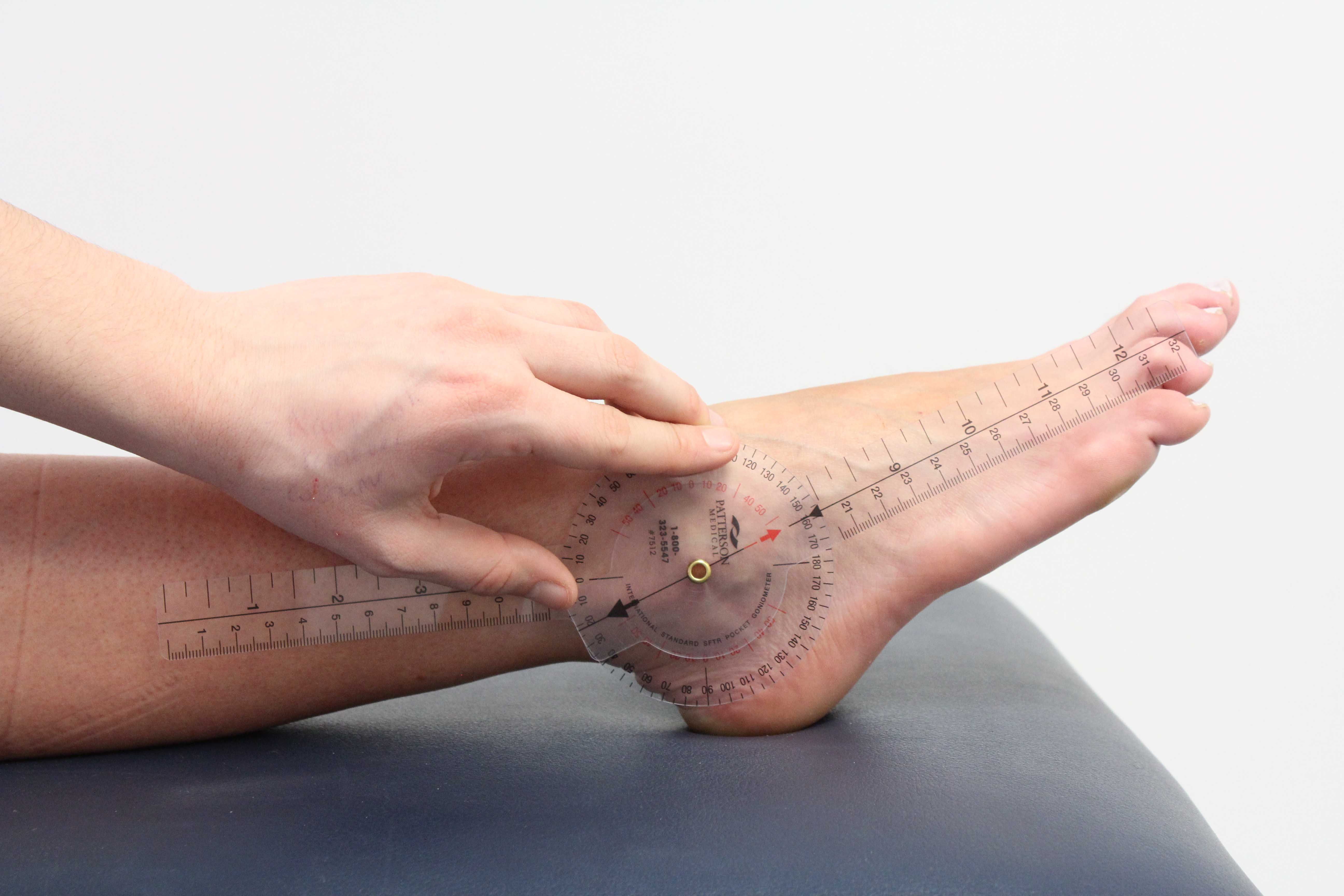 Assessment of the foot and ankle using a goniometer