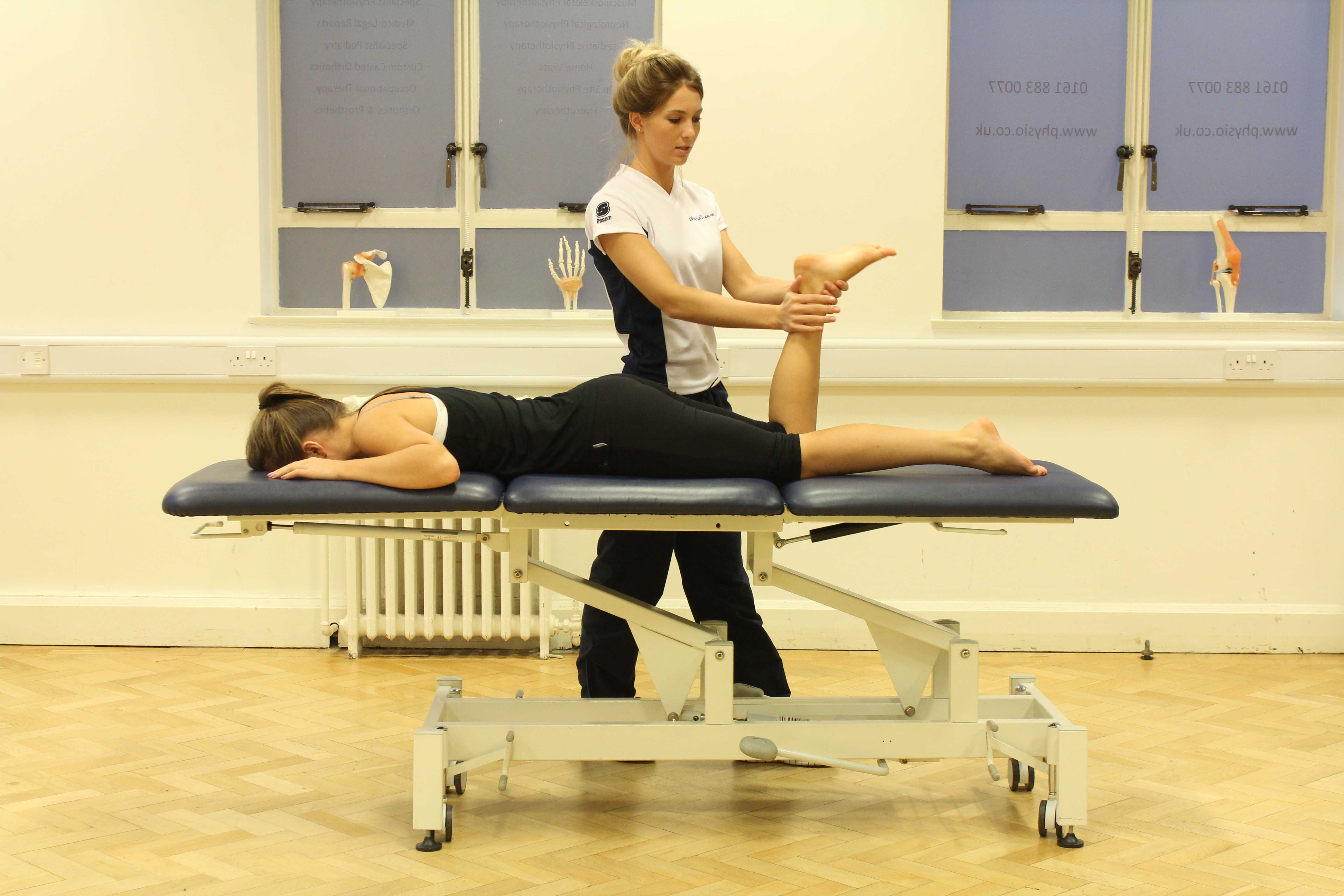 Performing gliding joint mobilisations in the ankle