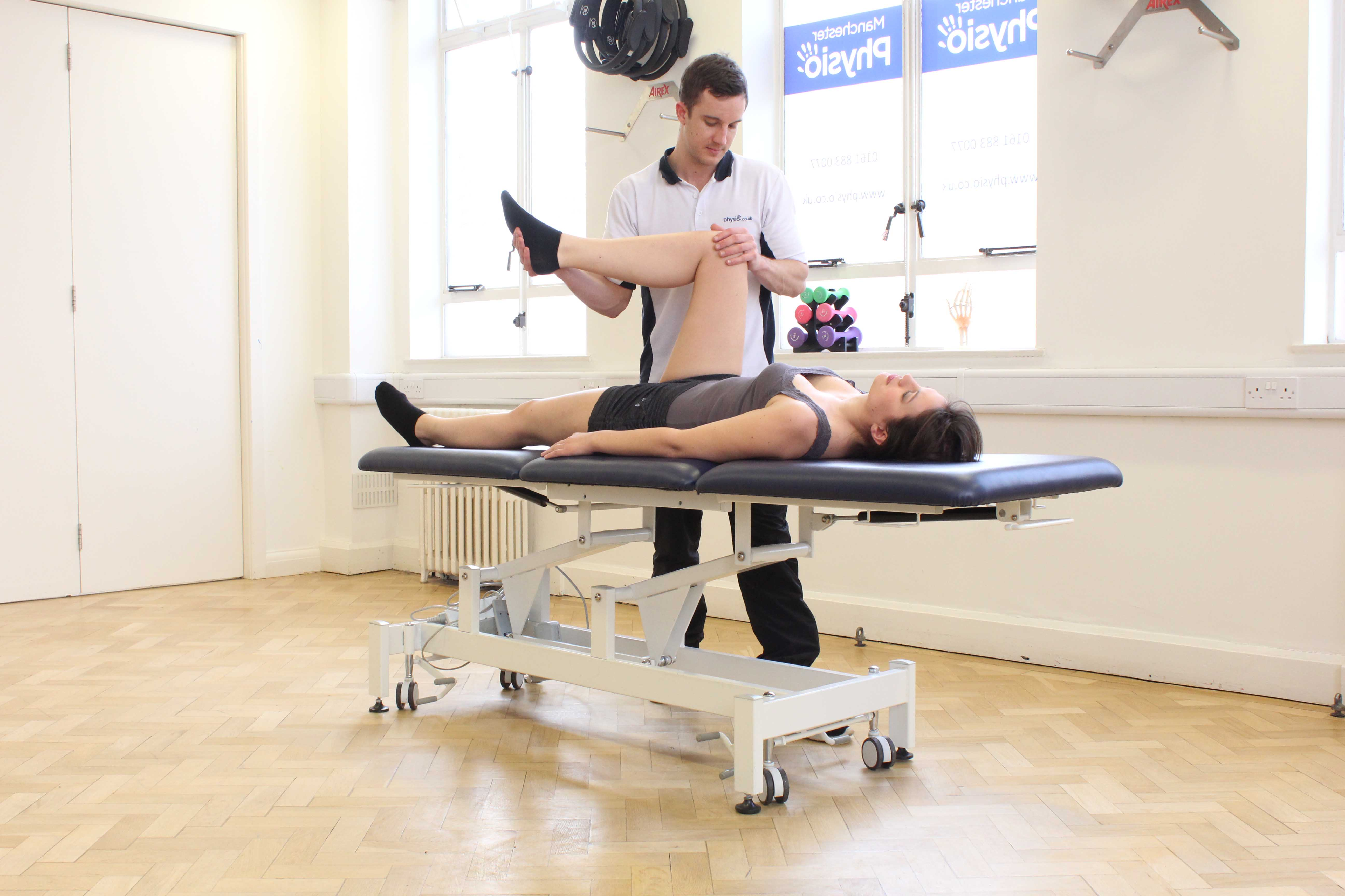 Assessment of the upper leg by an experienced MSK physiotherapist