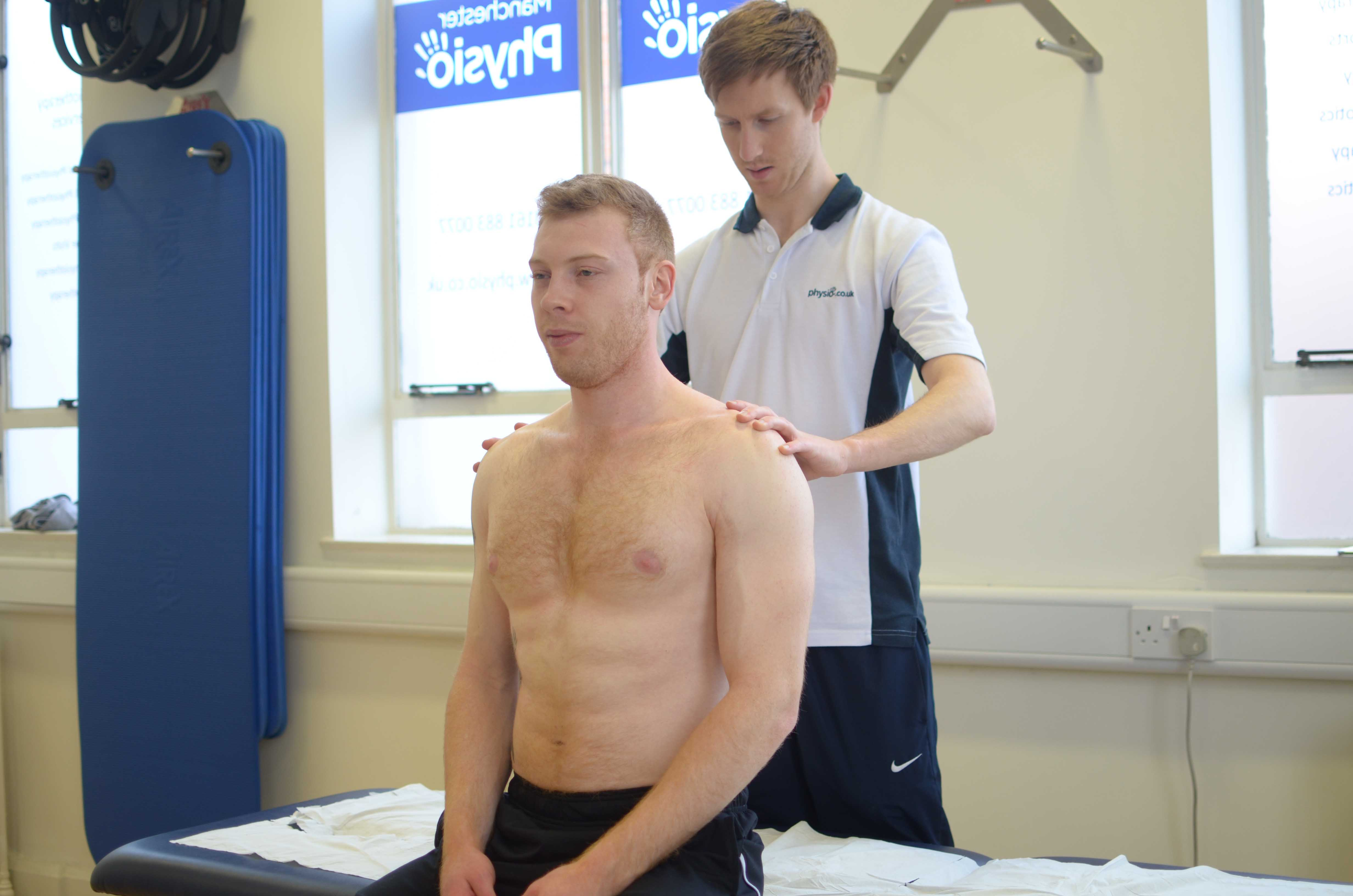 Active cycle of breathing exercises supervised by a specialist therapist