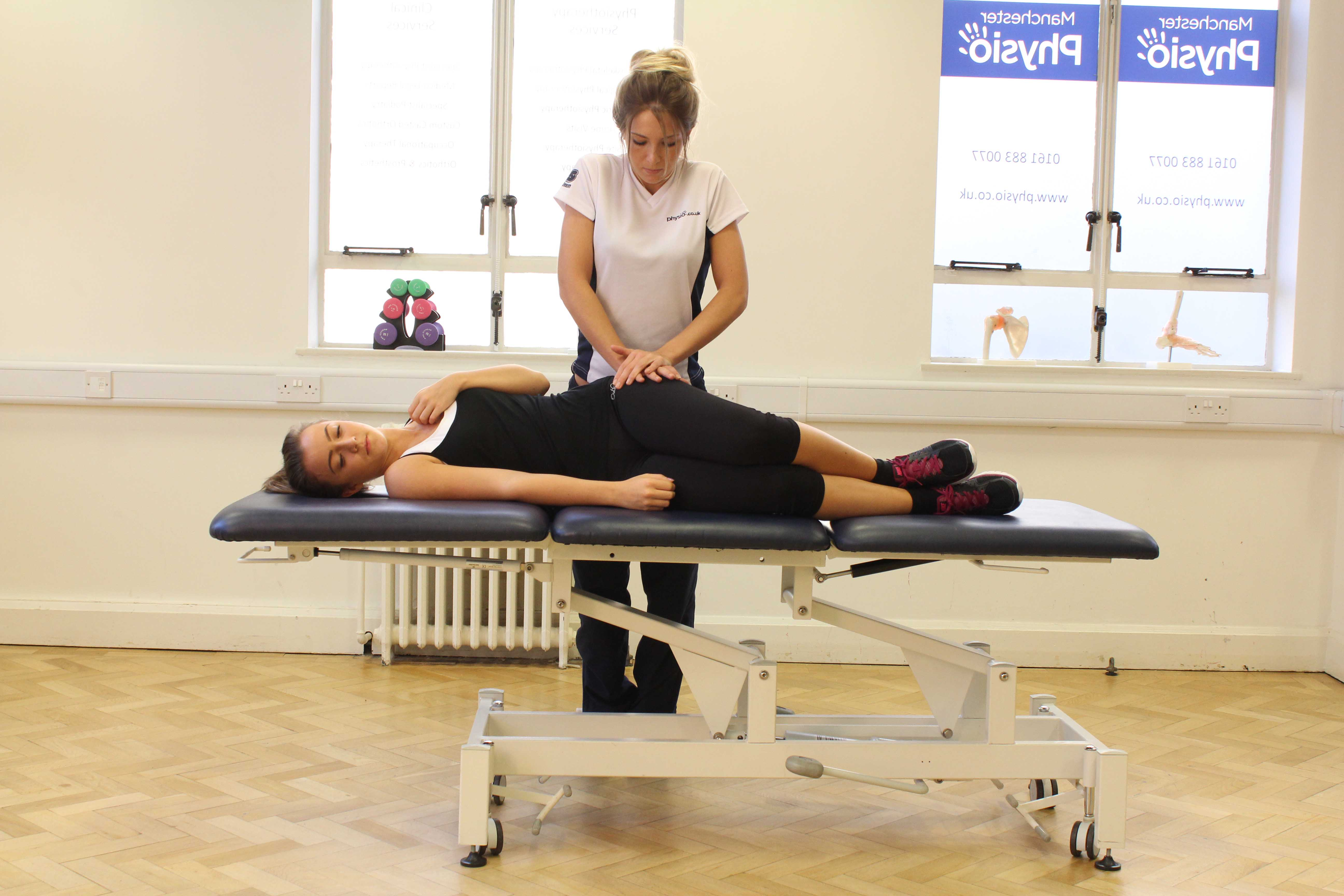 Lower vertebrea mobilisation and massage techniques applied by an experienced therapist