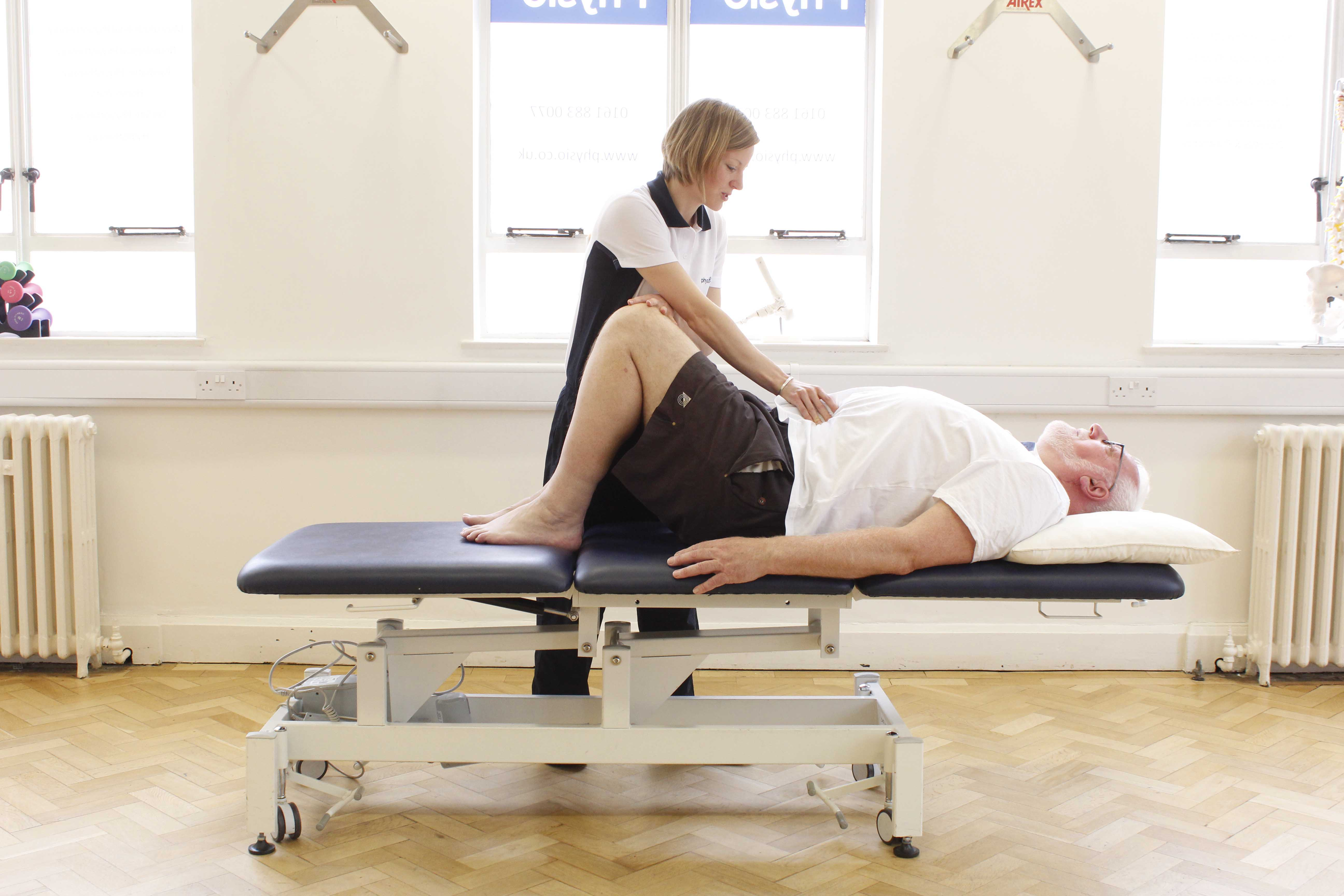 Pelvic floor and abdominal exercises supervised by a specialist physiotherapist