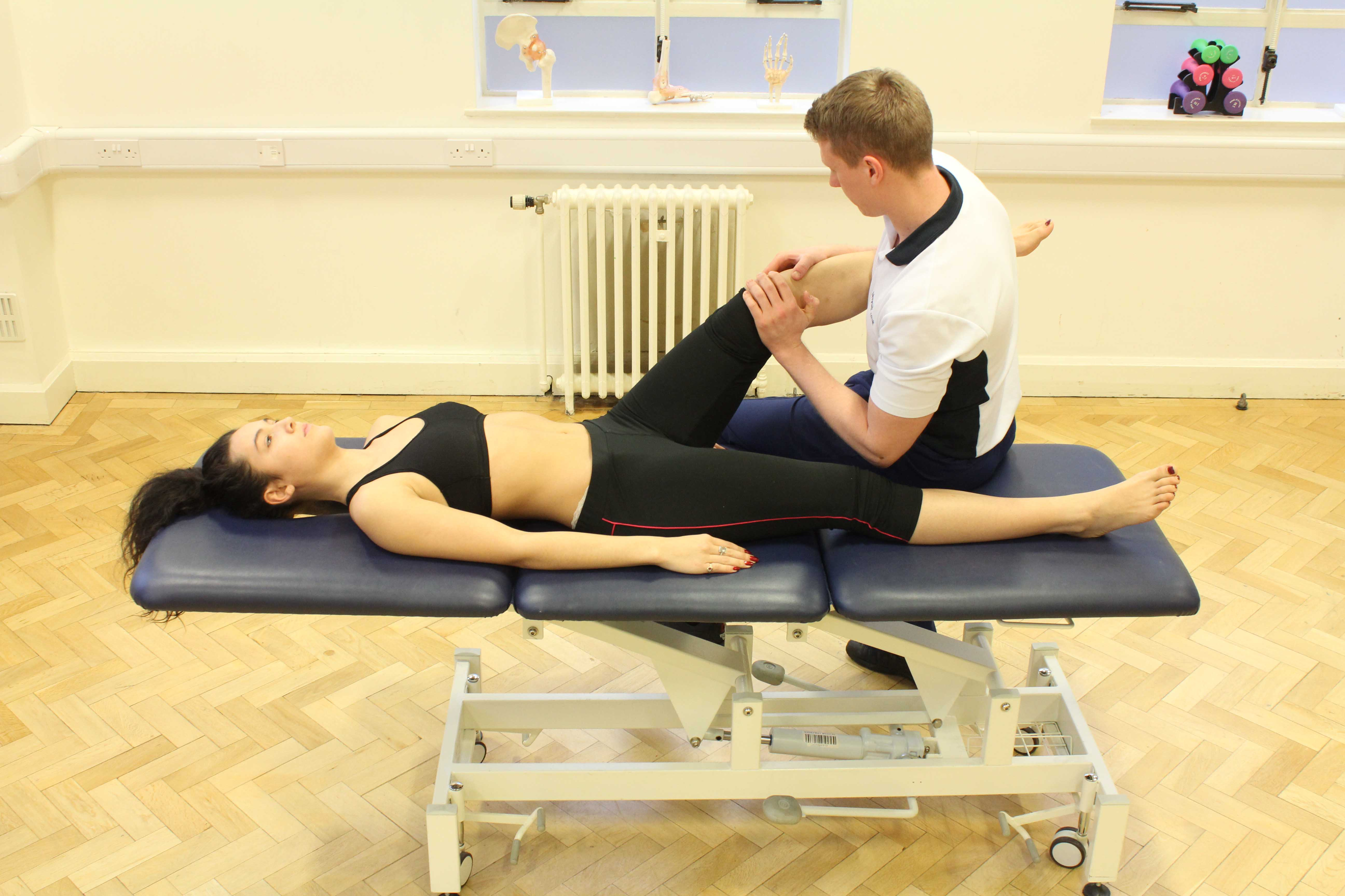 Patella mobilisations performed by MSK Physiotherapist