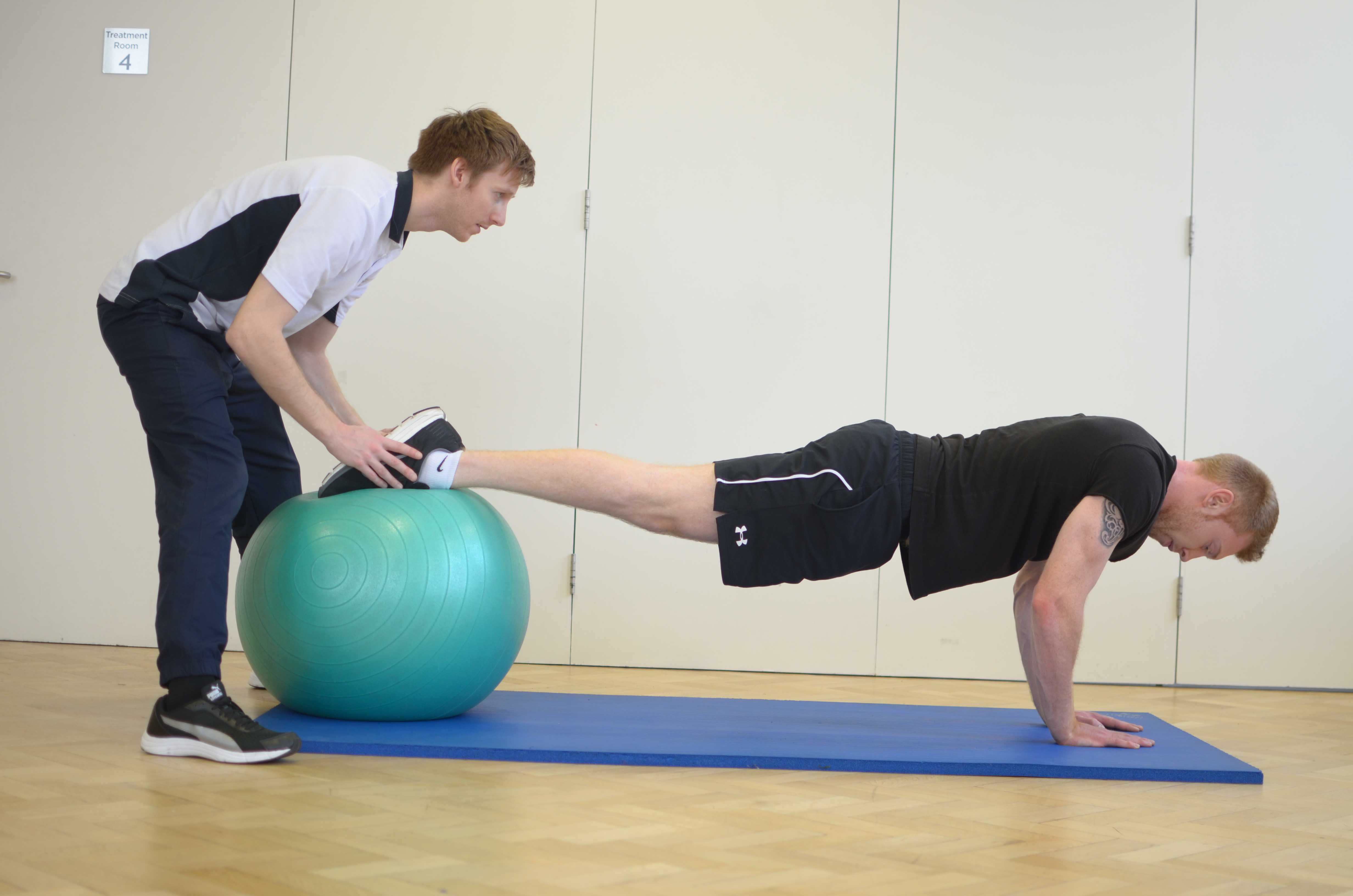 Strengthening exercises for the chest muscles supervised by MSK Physiotherapist