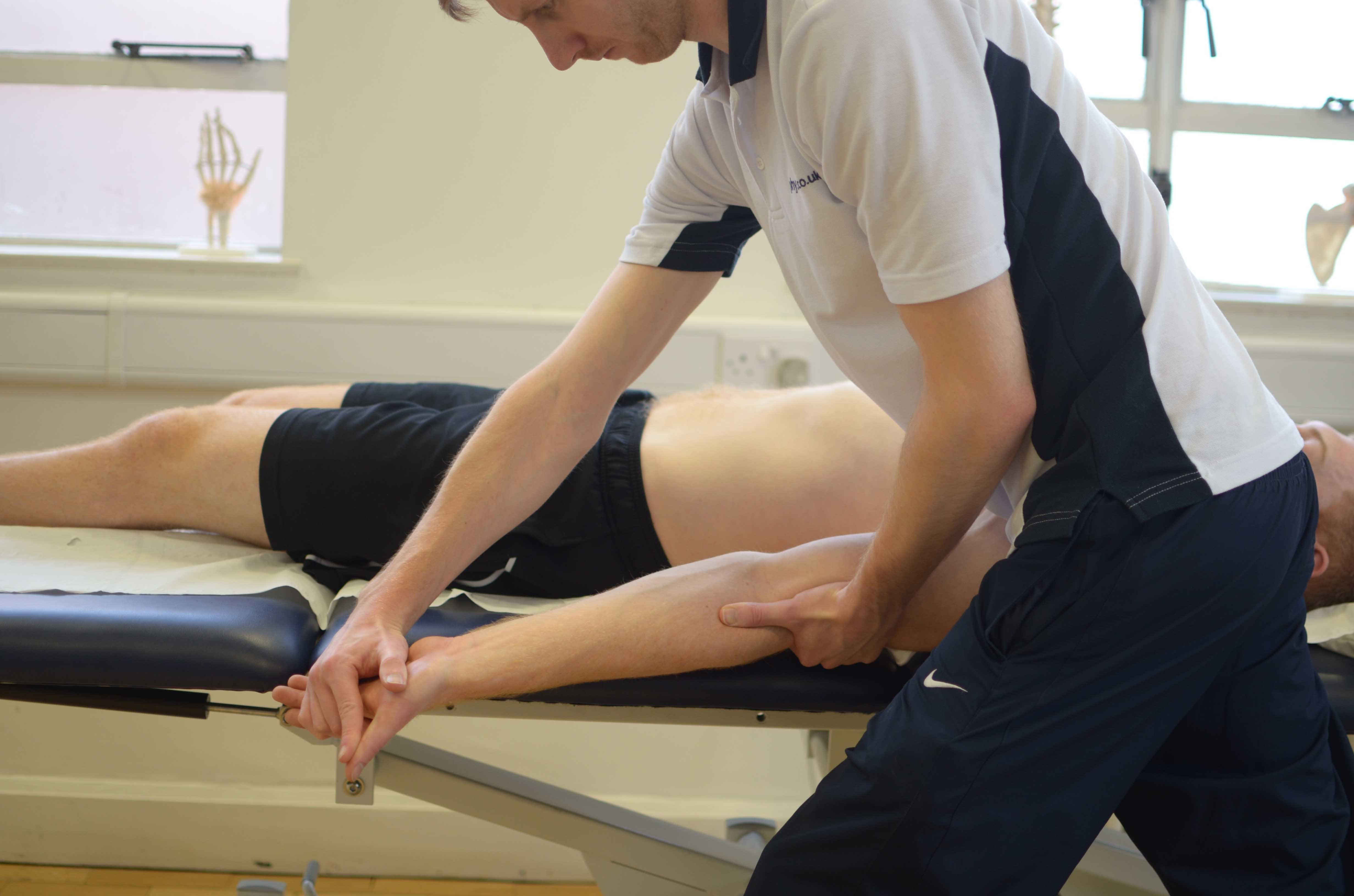 Soft tissue massage and joint mobilisations to normalise sensation