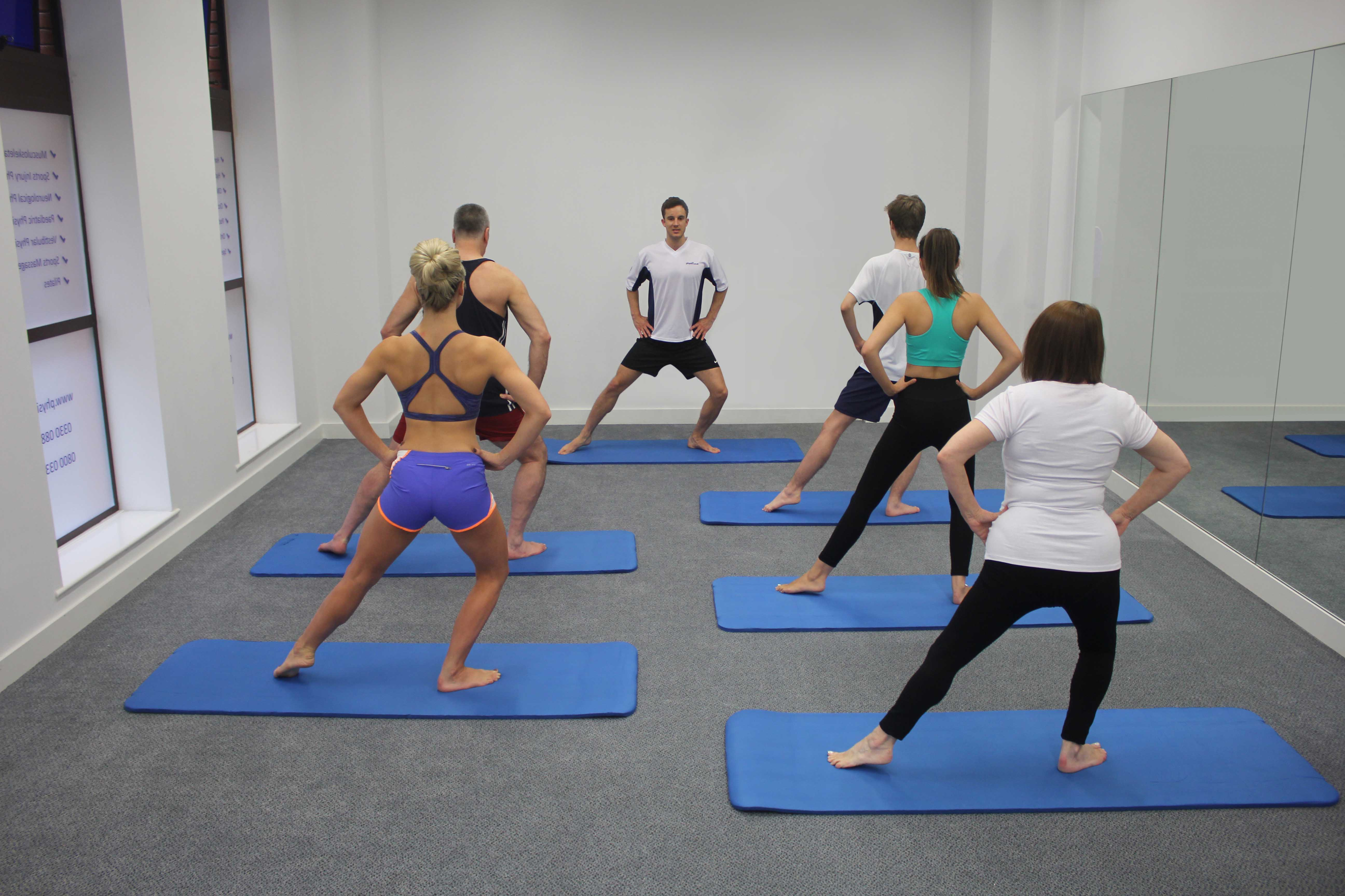 Pilates class led by specialist physiotherapist
