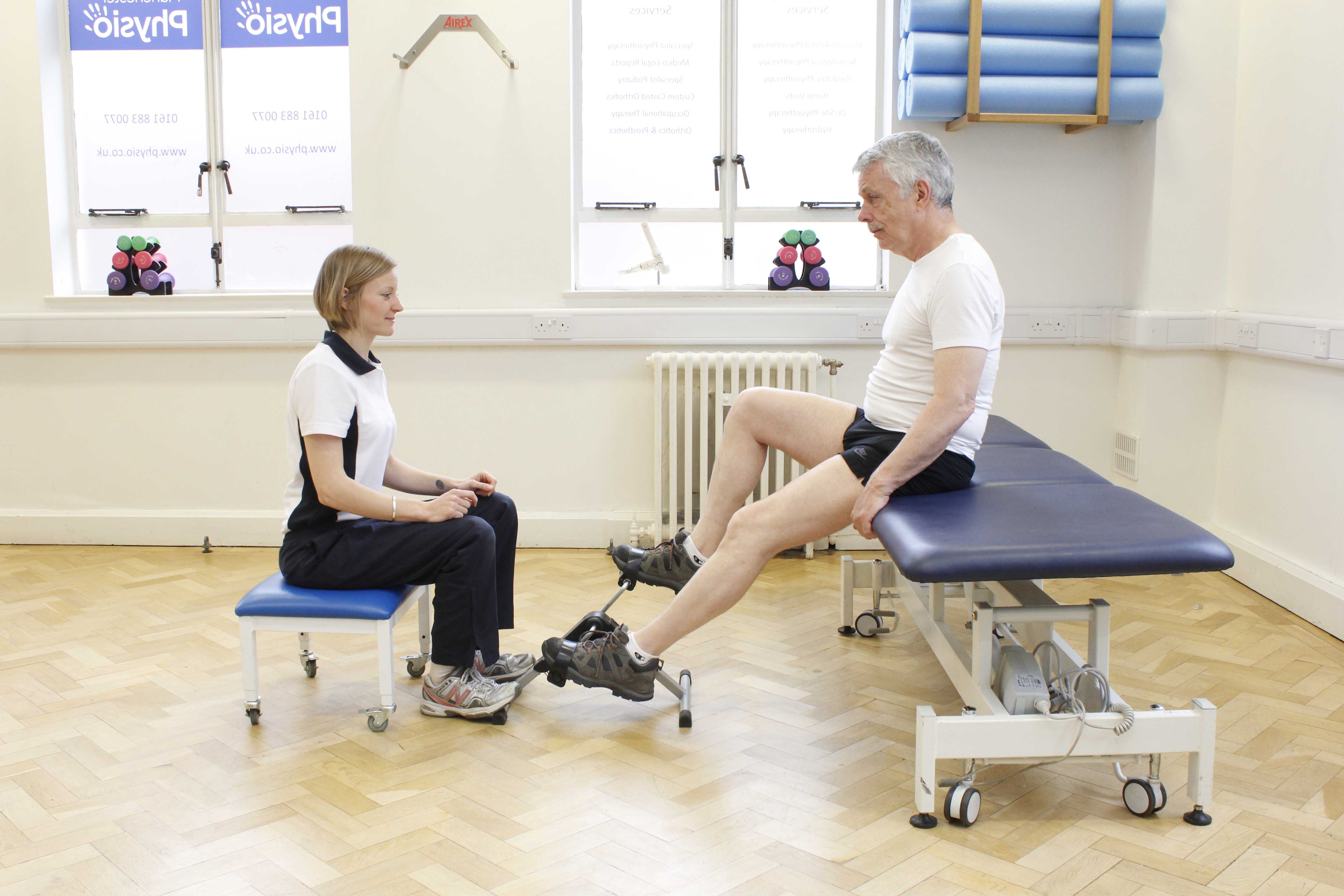 Improving lung function and exercise tolerance with supervision from a physiotherapist