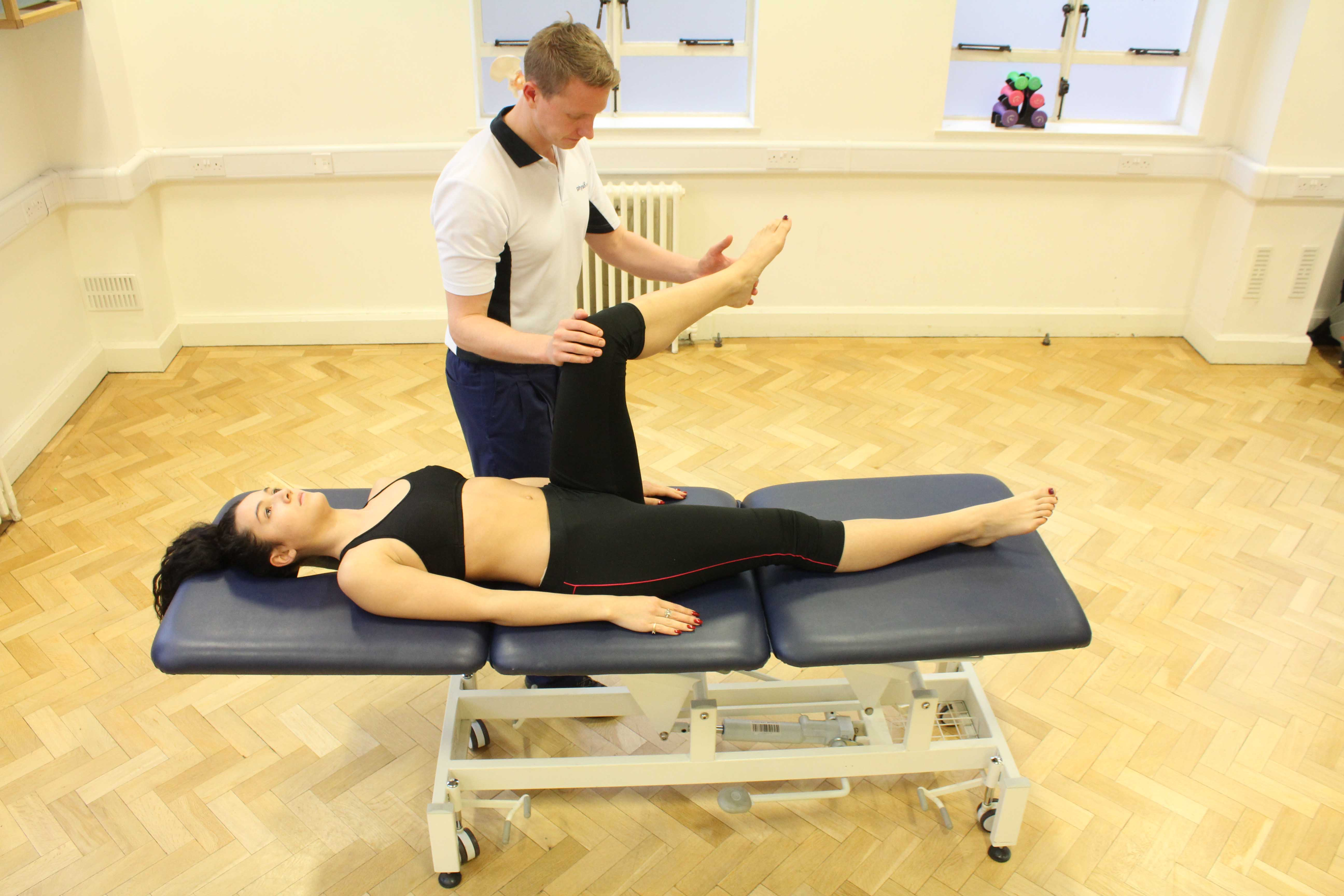 Mobilisations and stretches as part of a rehabilitation programme post surgery