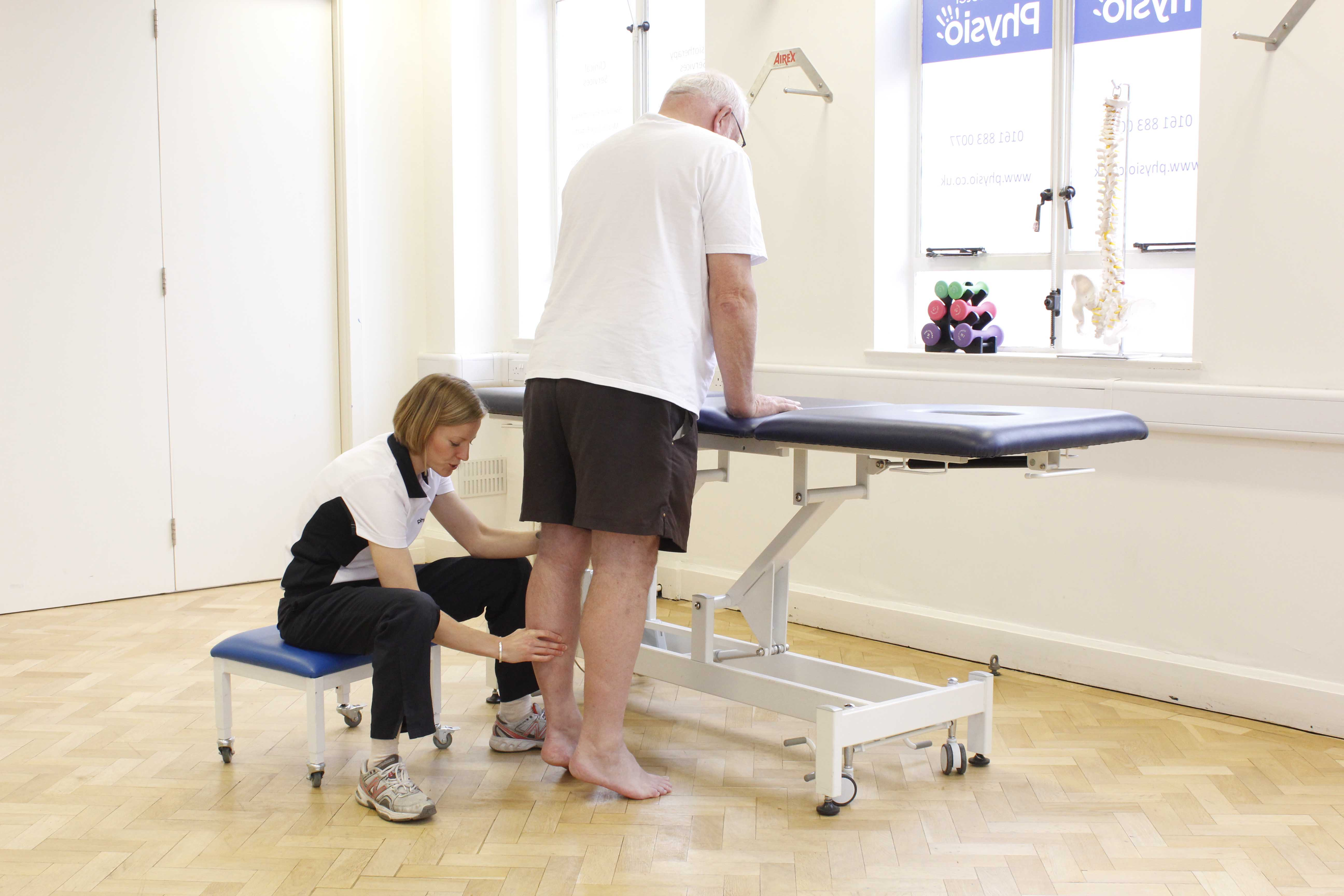 Progressive strengthening exercises for the foot and ankle, supervised by specialist physiotherapist
